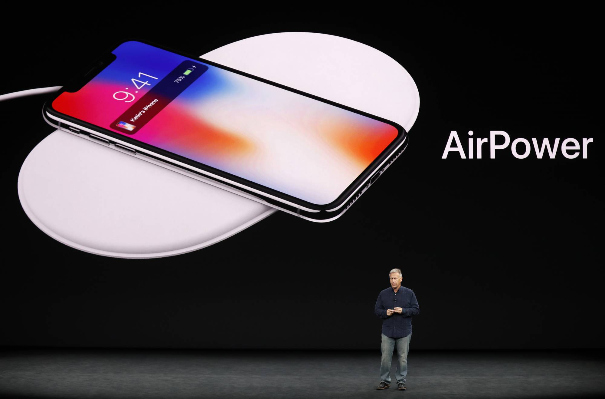 Apple's Schiller speaks during a launch event in Cupertino