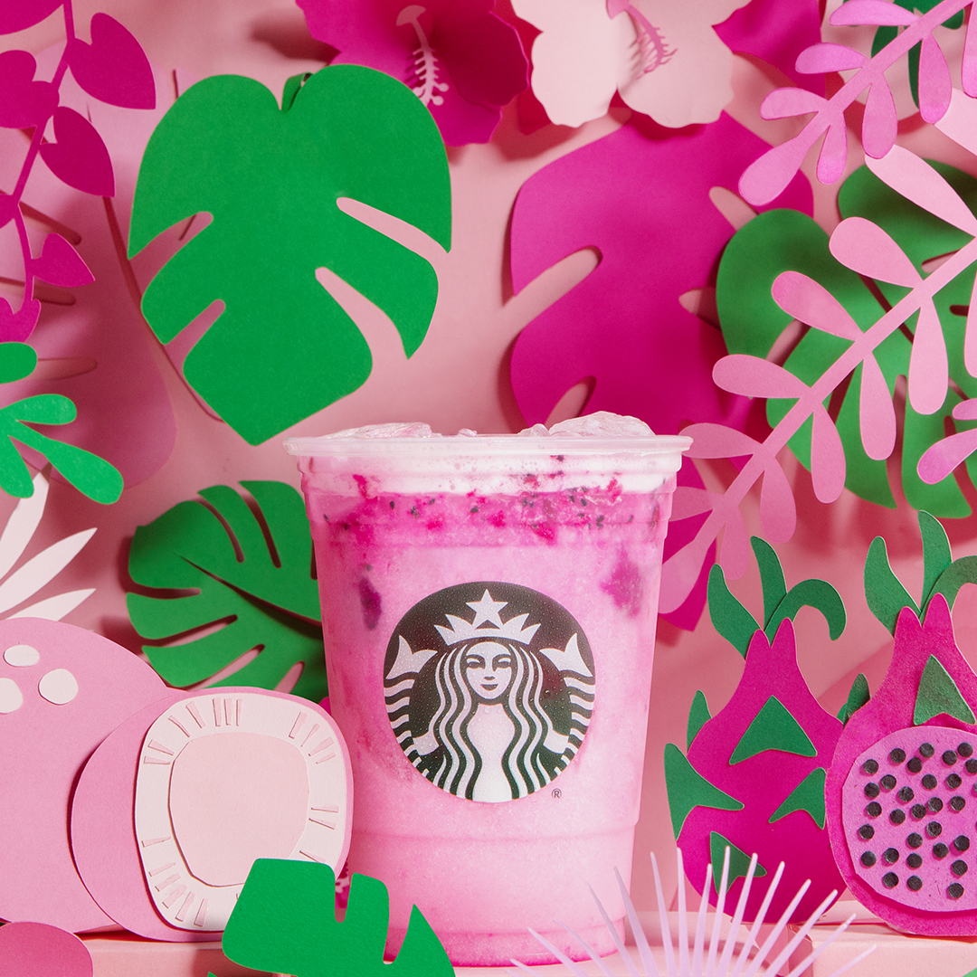Starbucks has added a pink Dragon Drink to its permanent menu.
