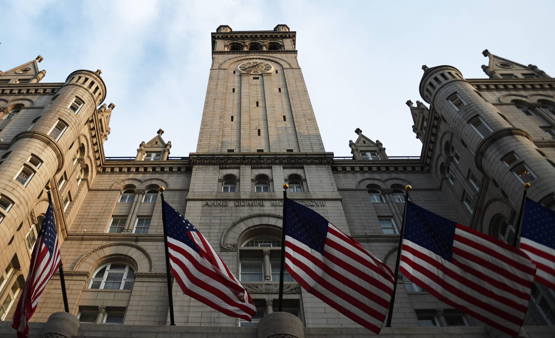 WASHINGTON, DC  - JULY 26: The tower of the Trump International