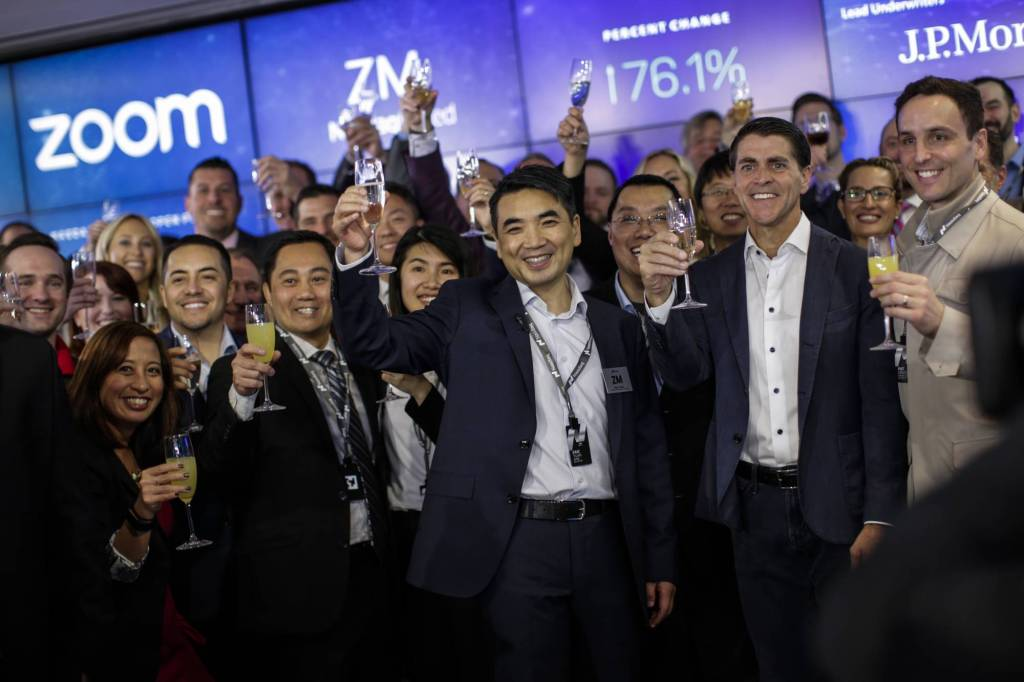 Video Conferencing Software Zoom Goes Public On Nasdaq Exchange