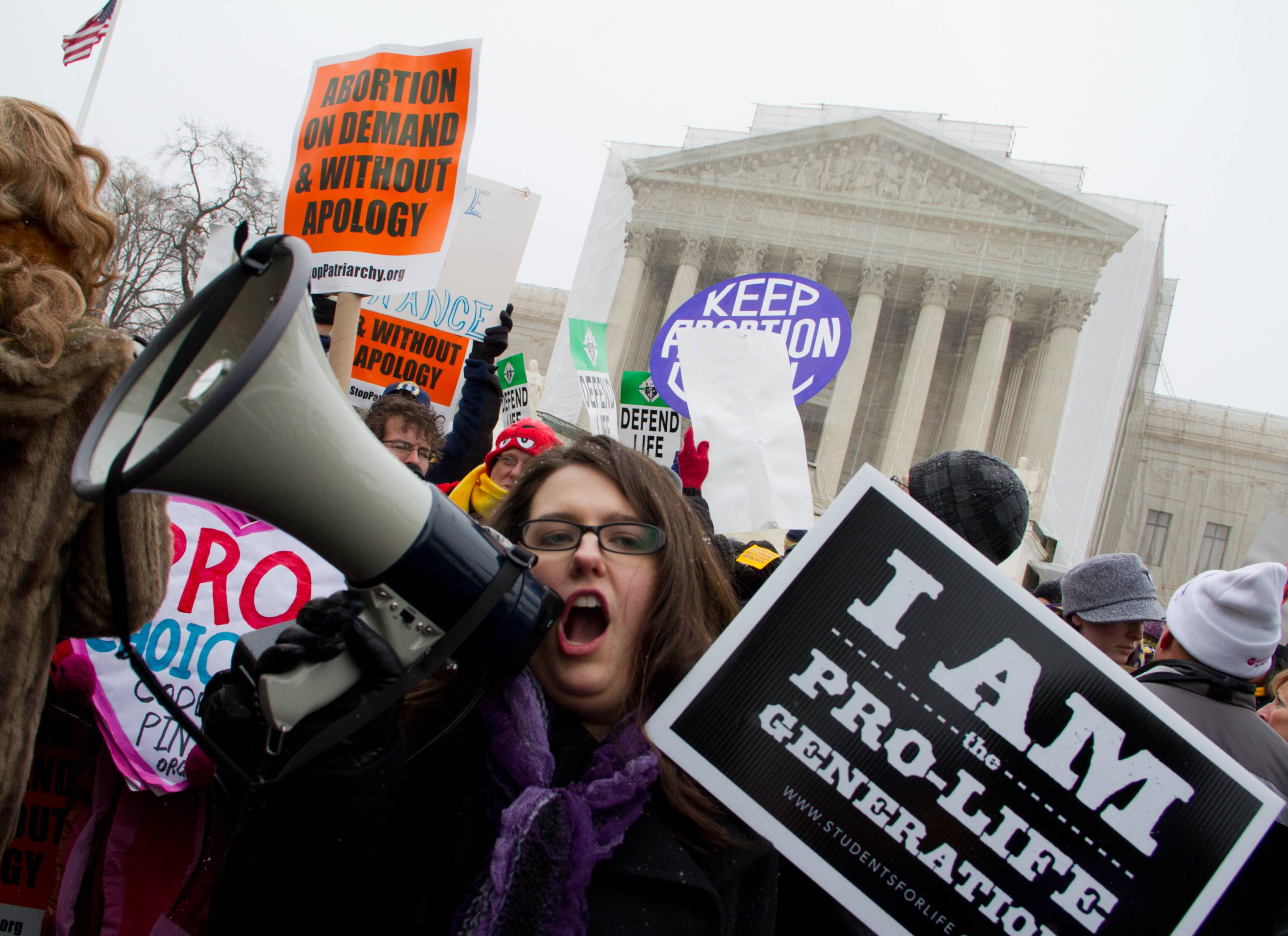 Protesters converged on the Supreme Court to protest