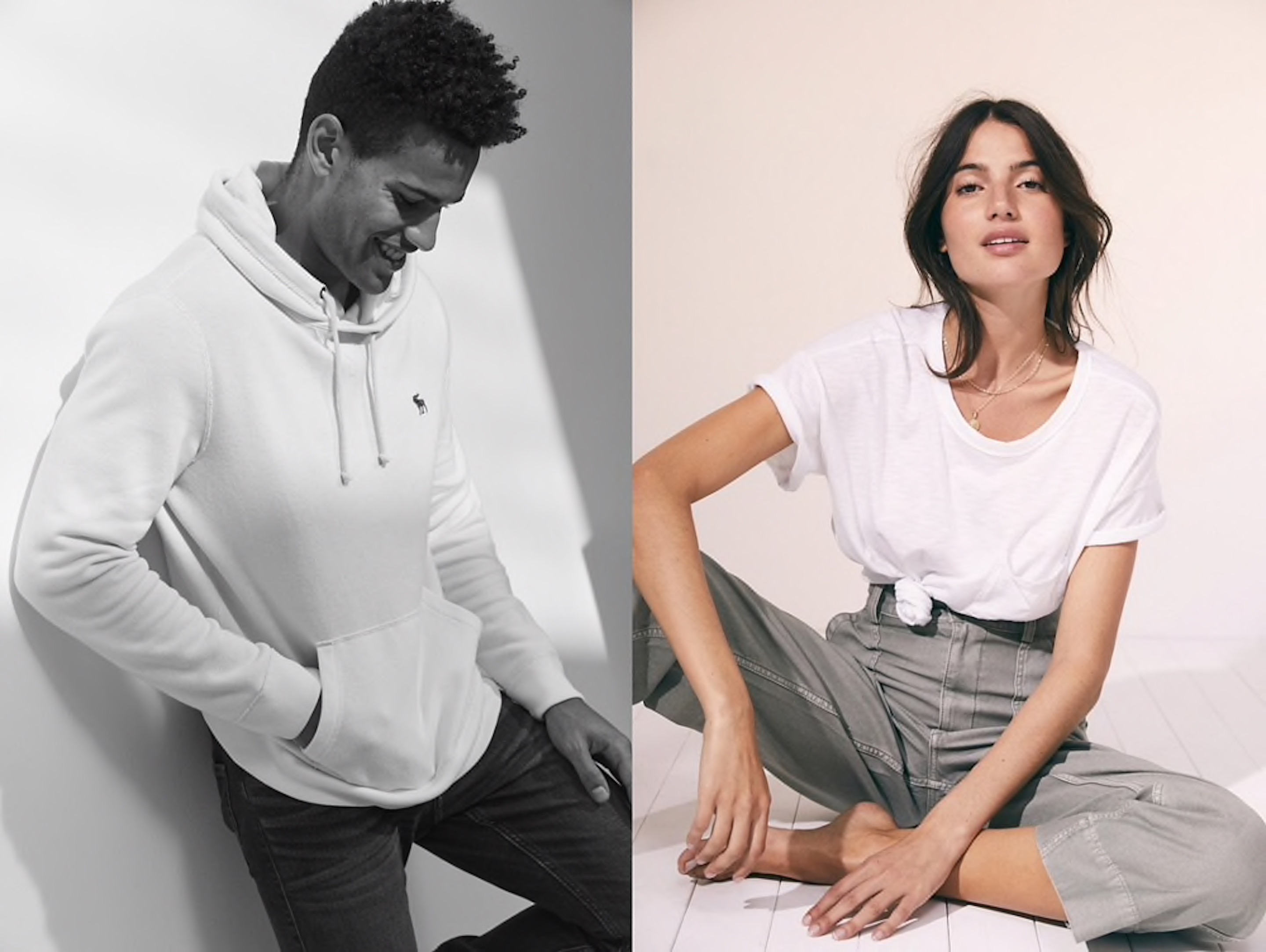 Abercrombie & Fitch summer fashions. The retailer will now sell cannabis-based body products.