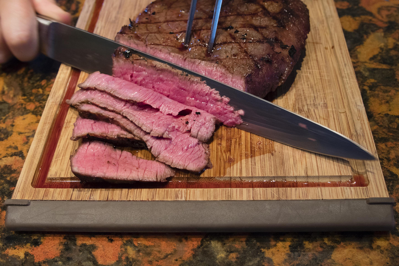 Beef recall steak sliced