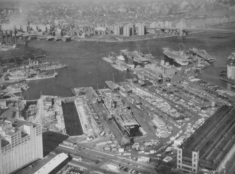 The Brooklyn Navy Yard in 1959.