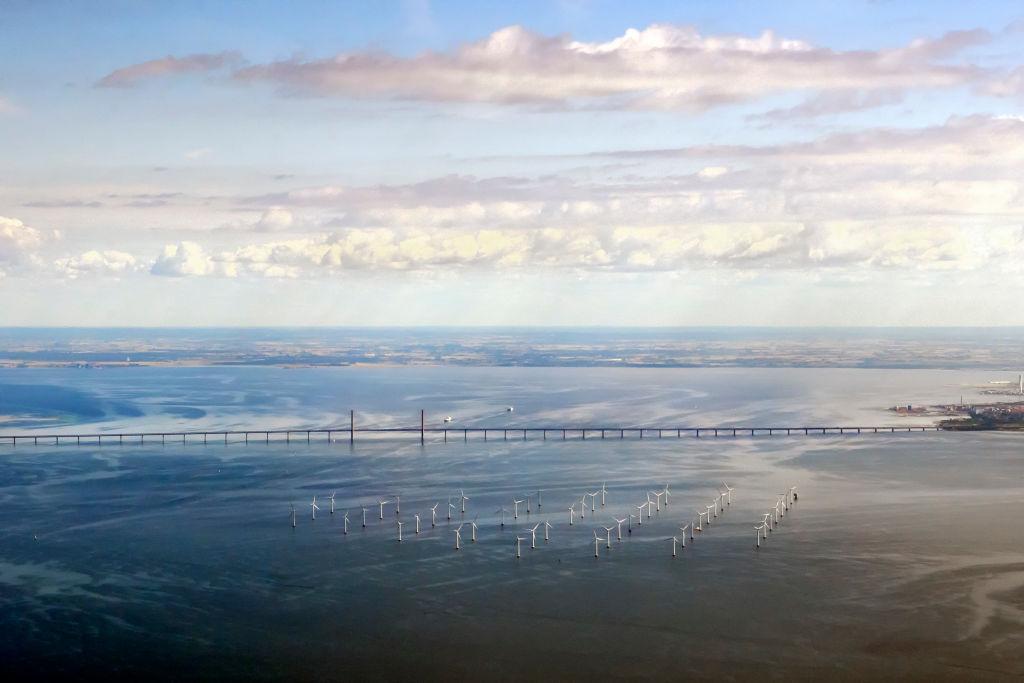 The Wind Farm near The  Øresund Bridge
