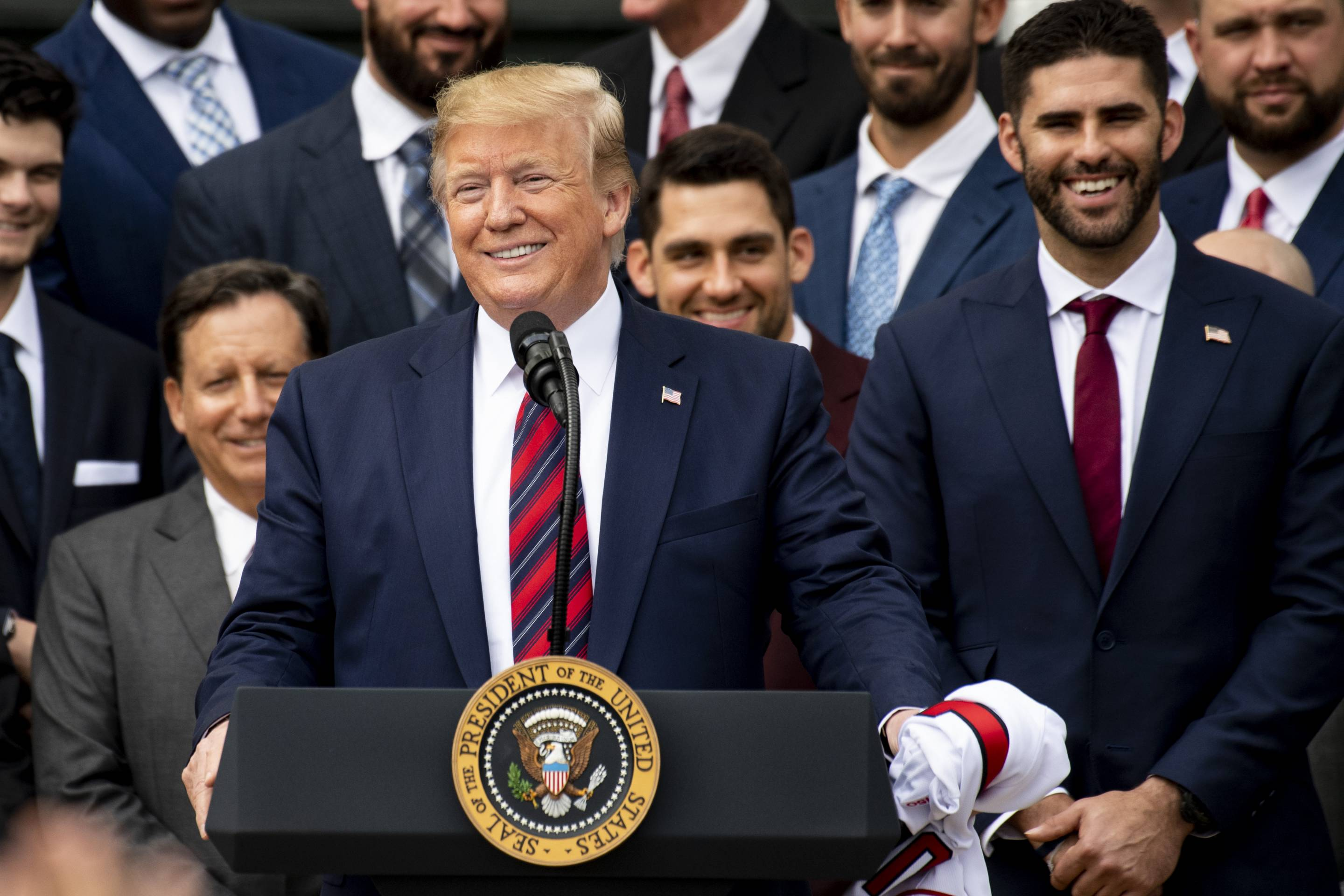 President Trump Hosts 2018 World Series Champion Boston Red Sox At White House