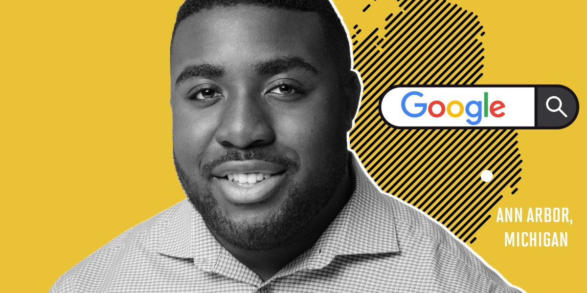 Karl Gourgue sits on the border between business and technology in his role as an assistant account strategist at Google.