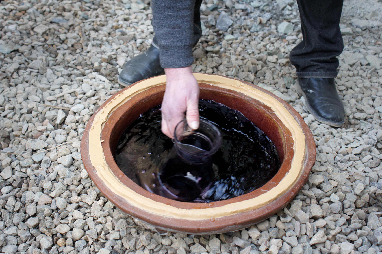 Kvevri clay amphoras.