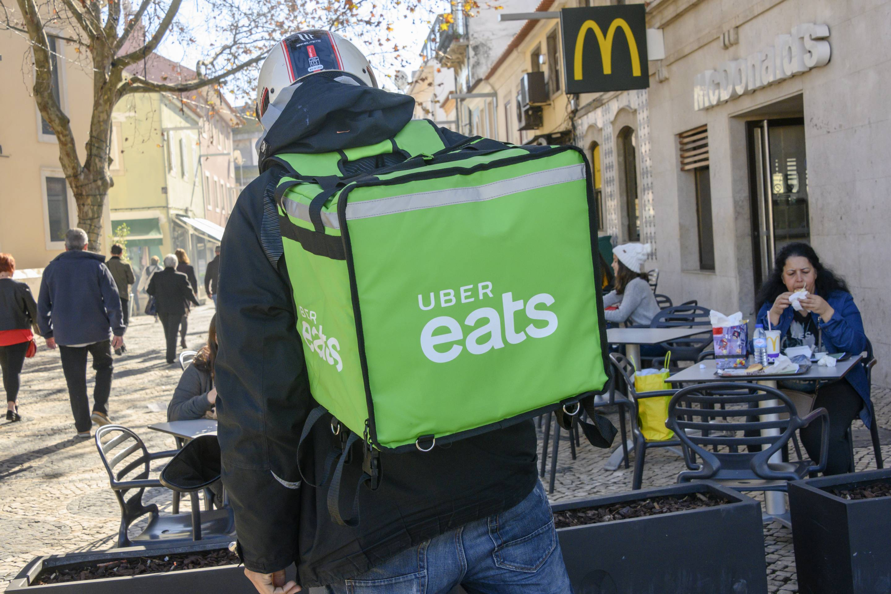 Uber Eats in Cascais, Portugal