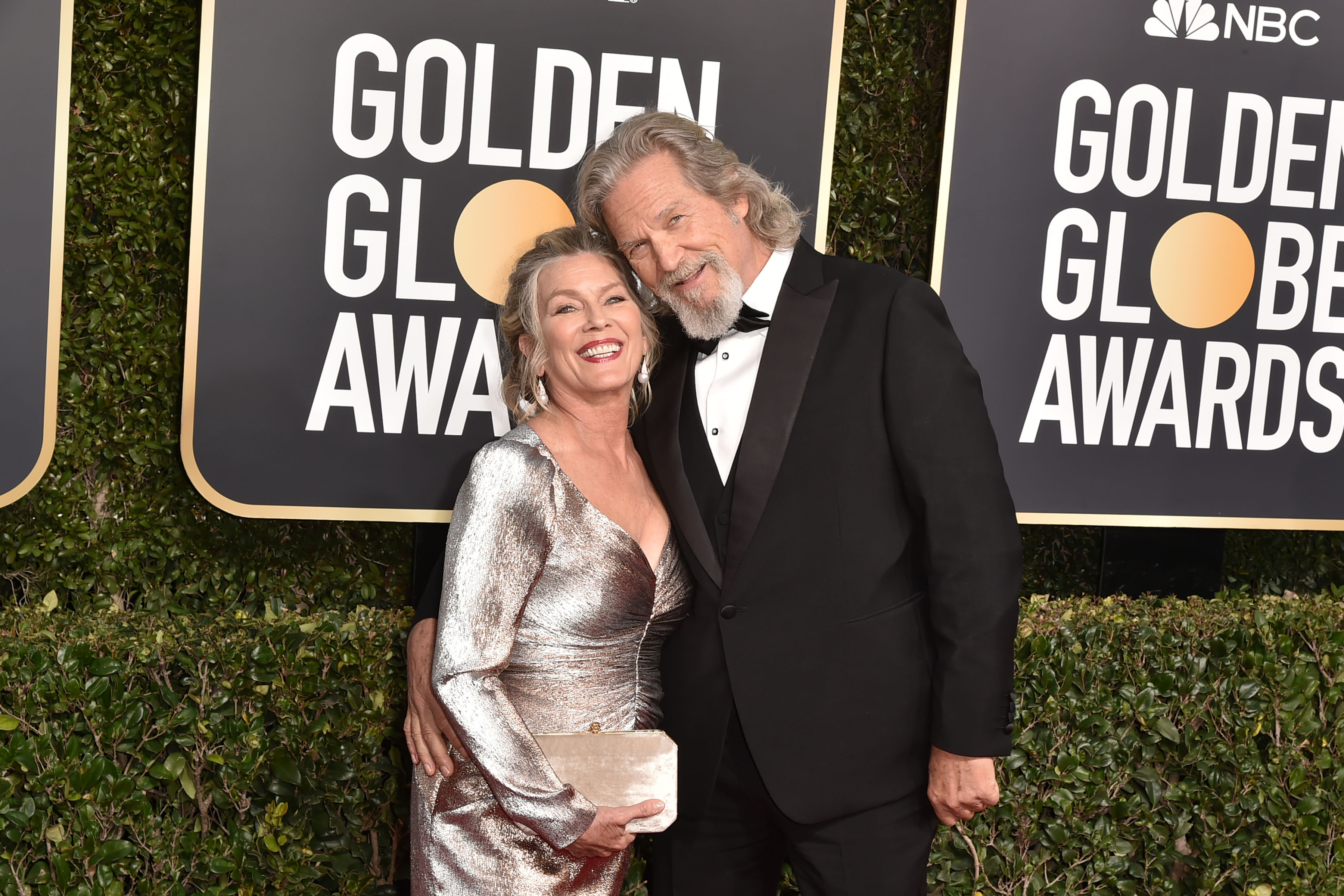 Jeff Bridges with Susan Gaston at the Golden Globes, 2019