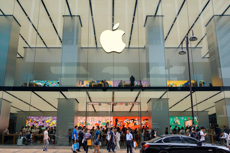 Apple store seen in Tsim Sha Tsui Hong Kong