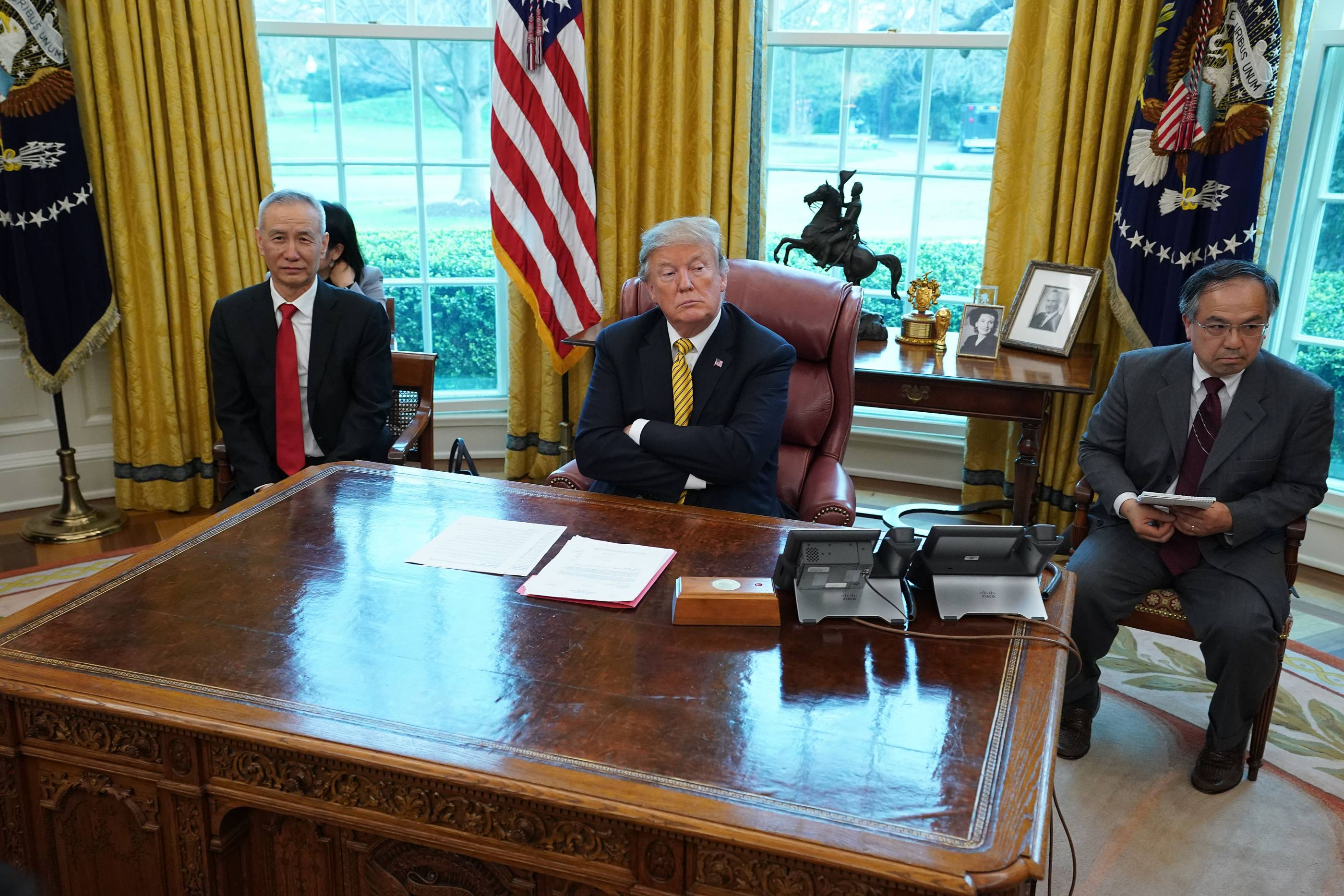 President Trump Meets With Vice Premier Of China At The White House