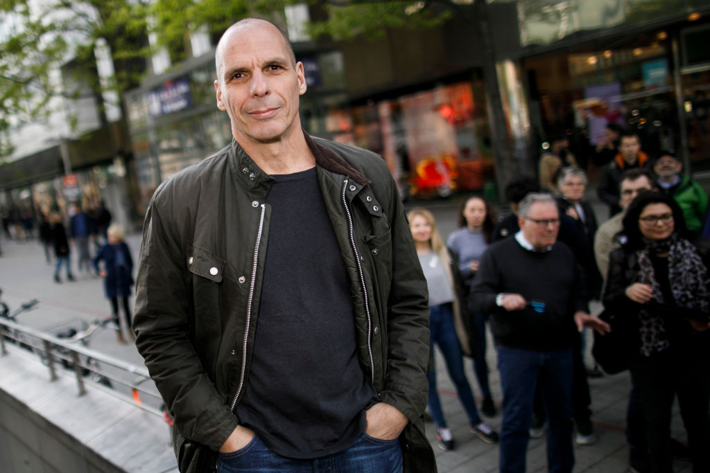 Yanis Varoufakis Campaigns In Hanover