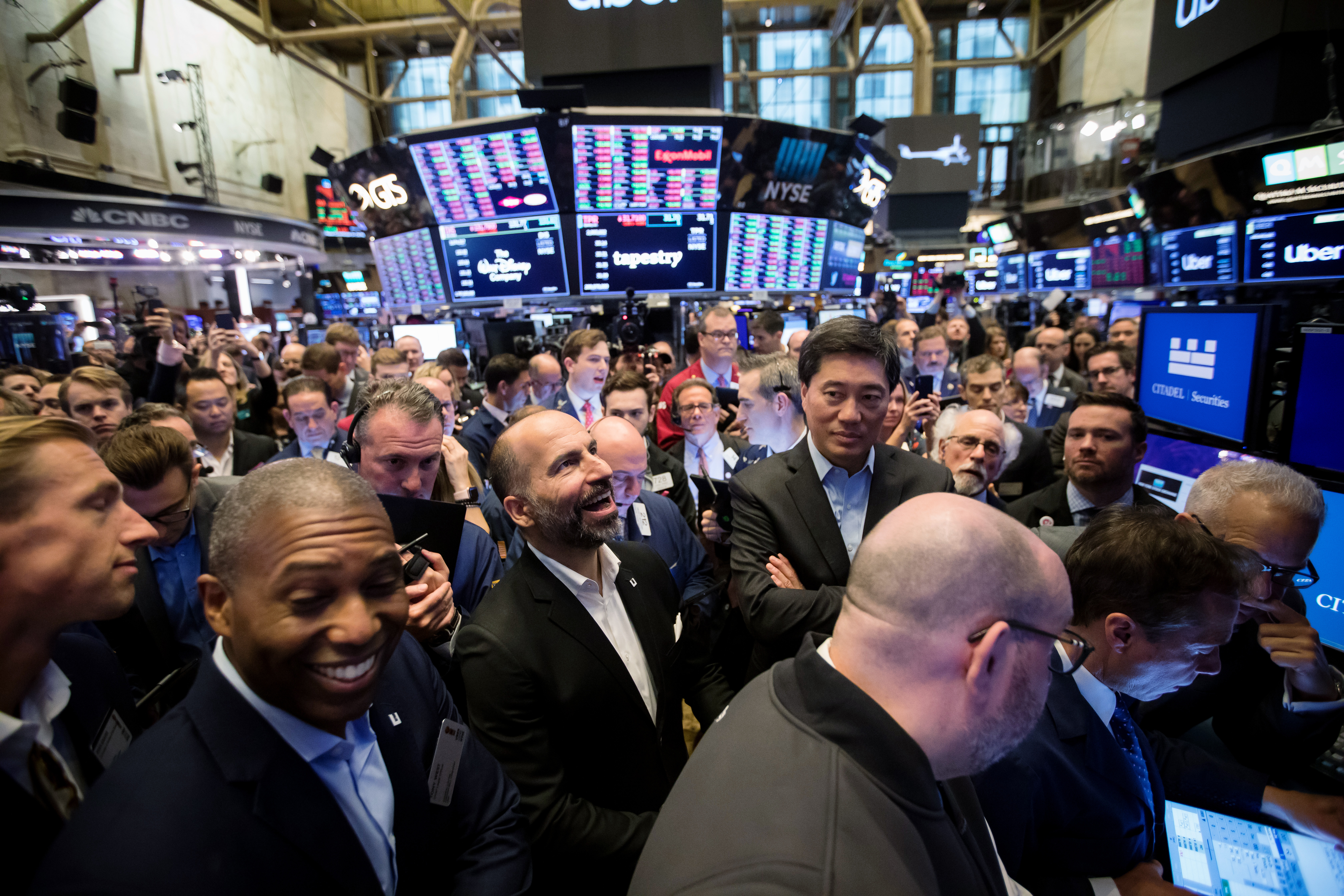 Trading On The Floor Of NYSE As Uber Releases IPO