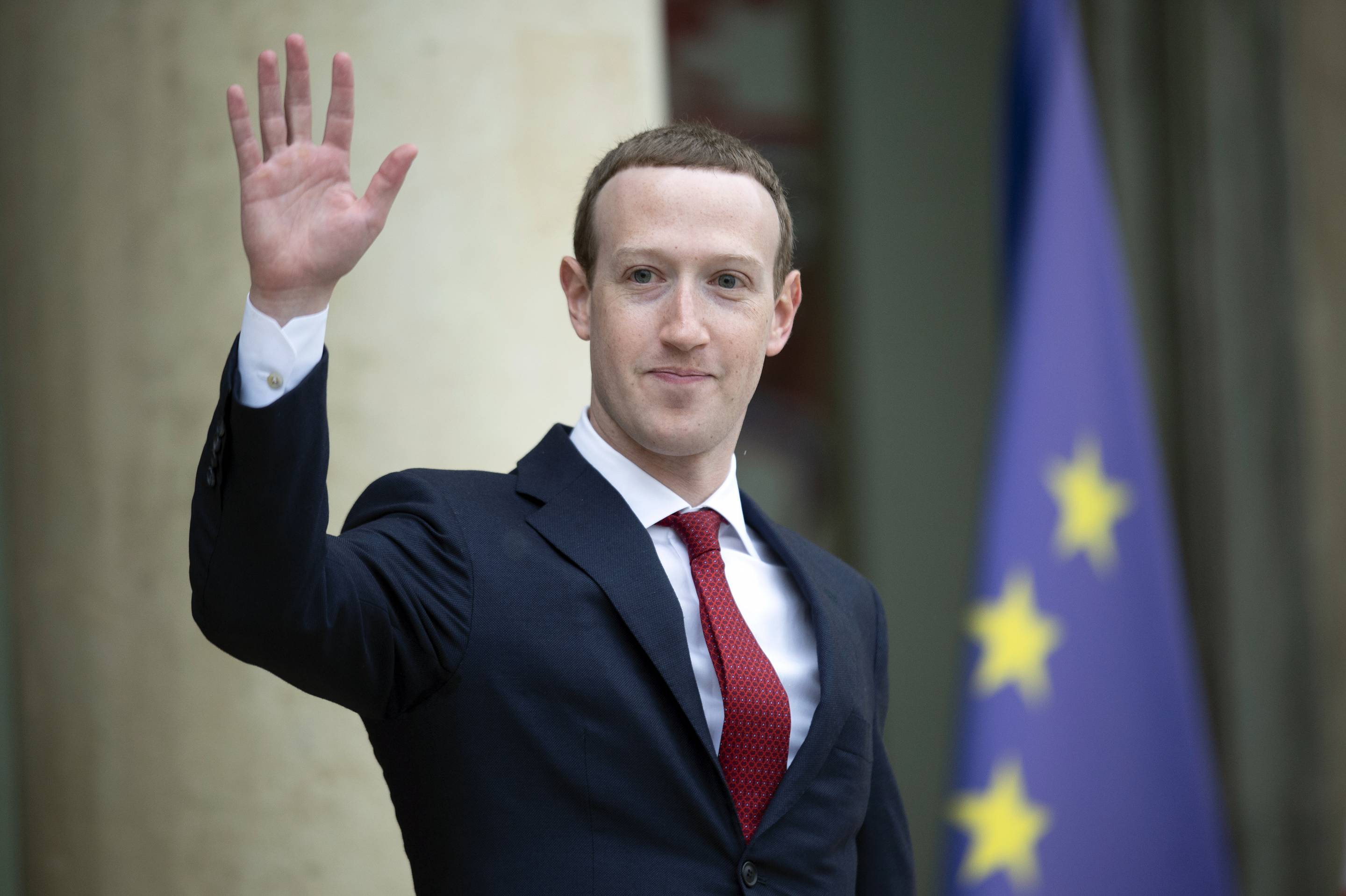 French President Emmanuel Receives Mark Zuckerberg, Chief Executive Officer And Founder Of Facebook Inc At Elysee Palace