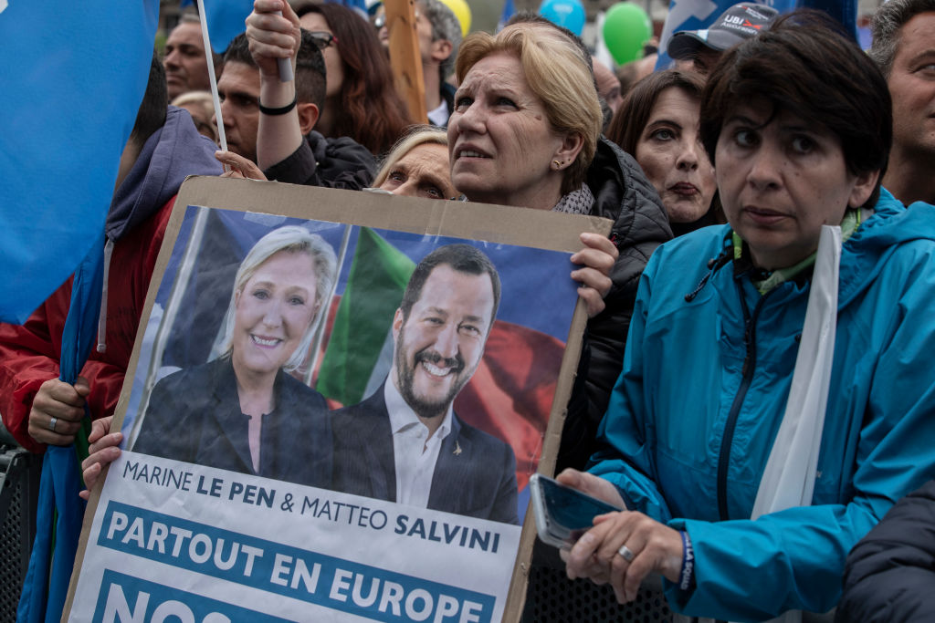 Right-Wing EU Parties Rally In Milan
