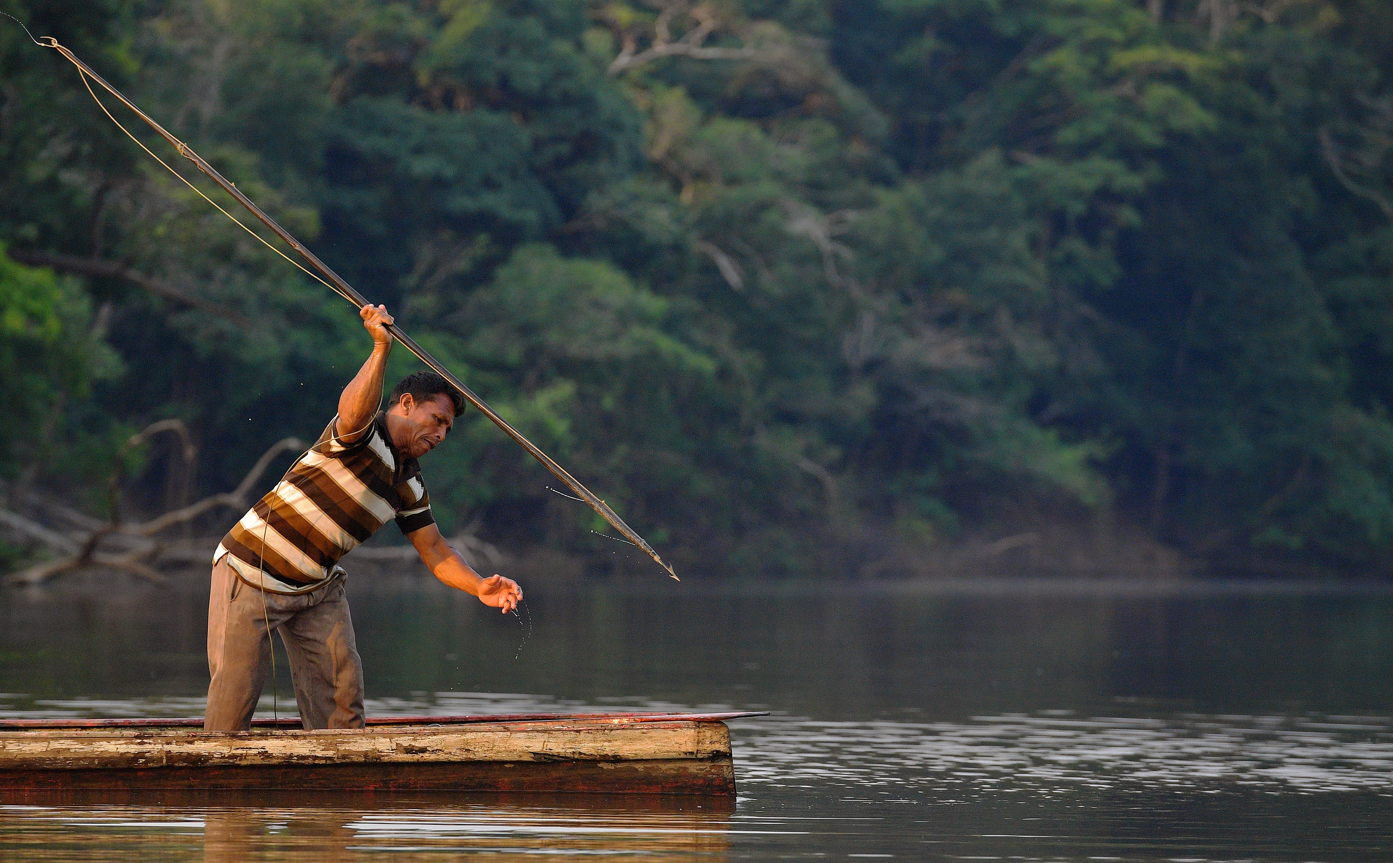 BRAZIL-AMAZON-FISHING