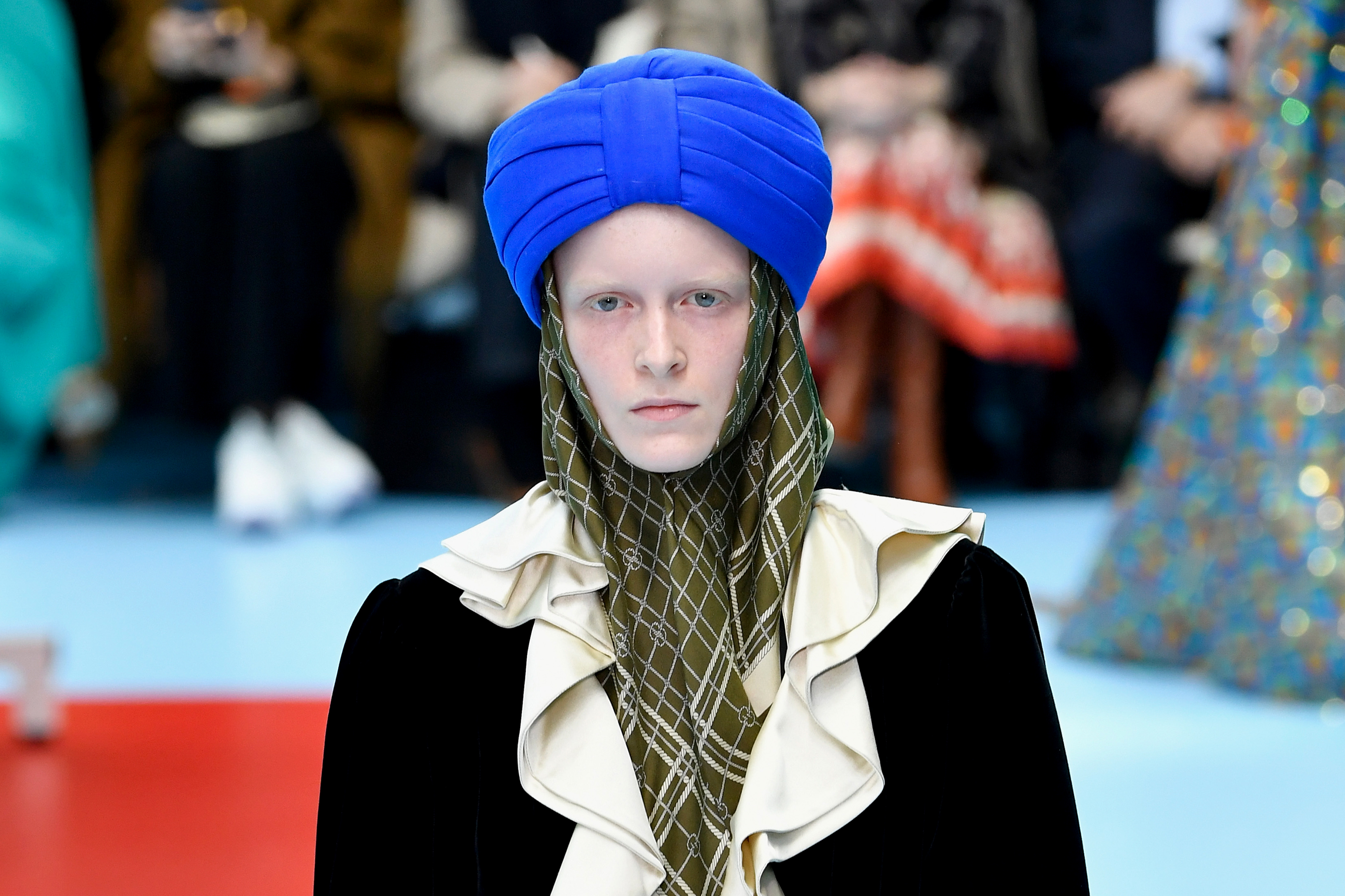 Gucci Runway Turban Milan Fashion Week