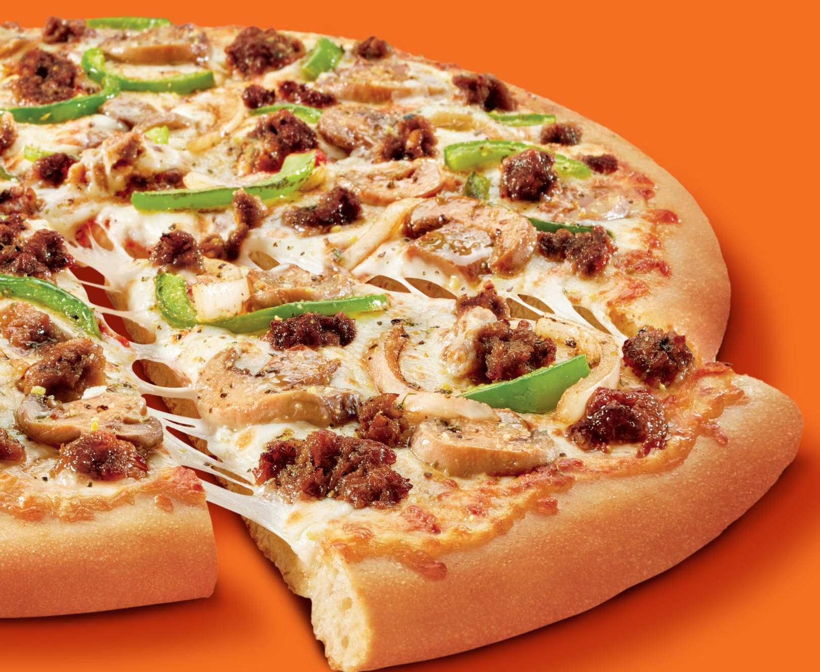 Little Caesars' Impossible Supreme Pizza introduces Impossible Foods' first meatless sausage.