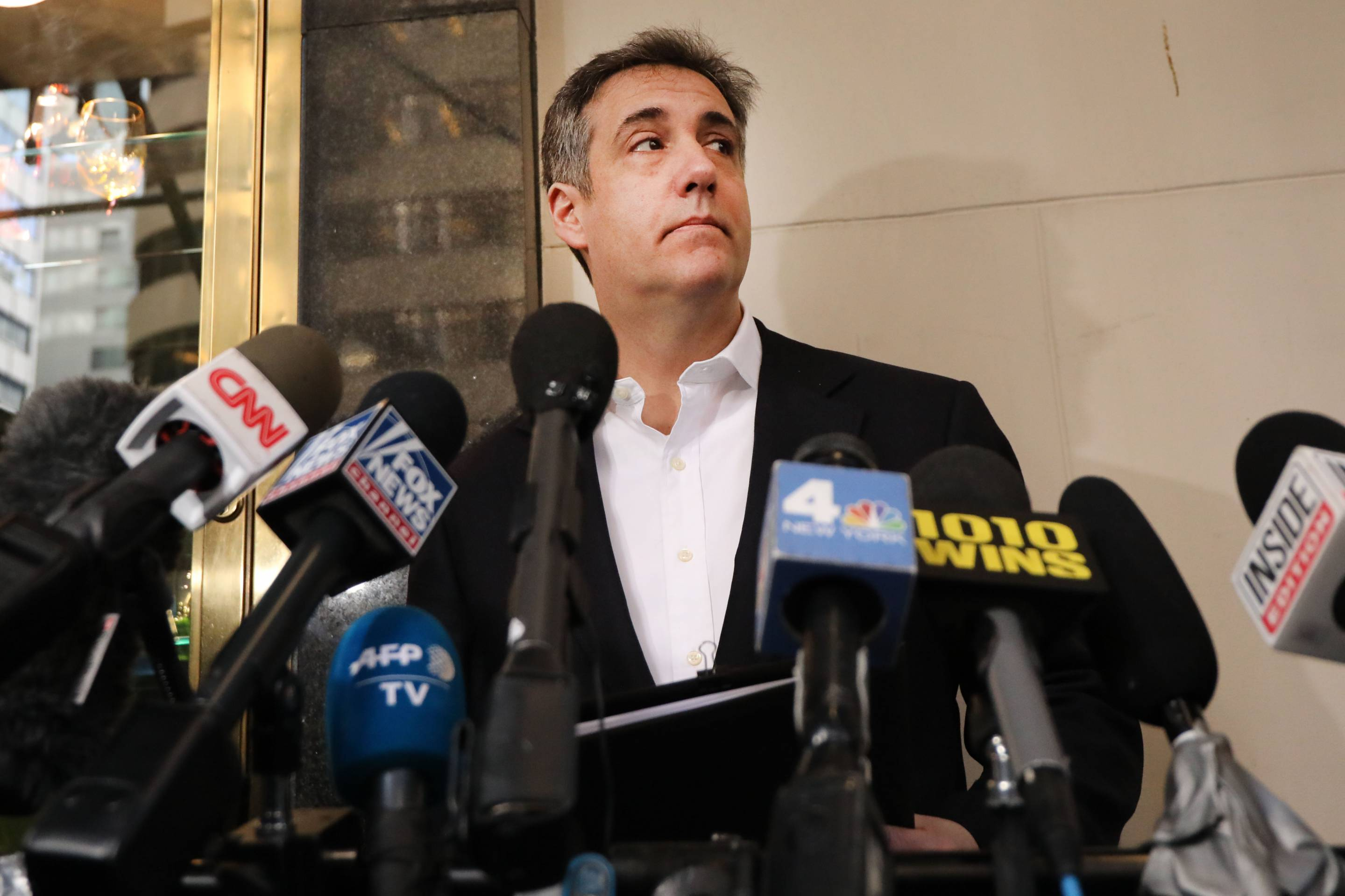 Former Trump Lawyer Michael Cohen Leaves Manhattan Apartment For Three-Year Prison Sentence