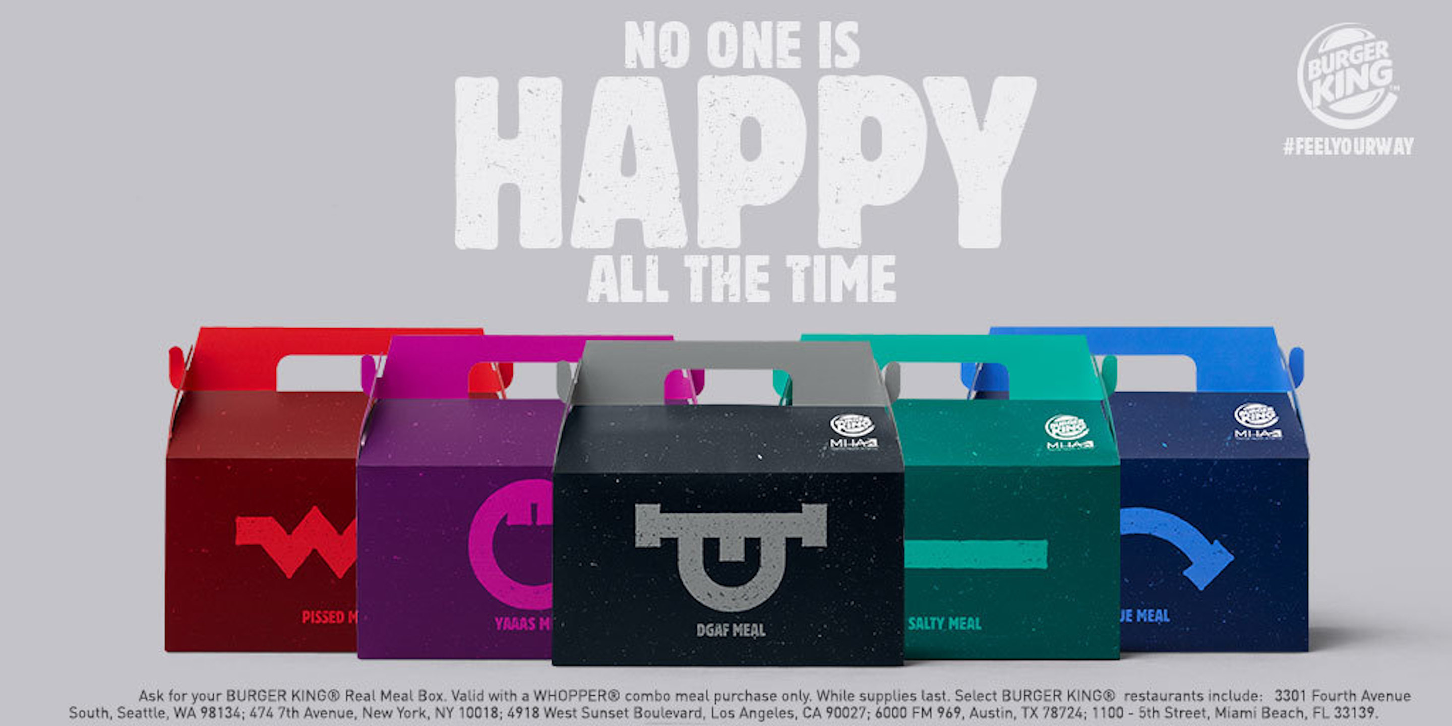Burger King is selling Real Meals to coincide with how their customers are feeling, in honor of Mental Health Month.