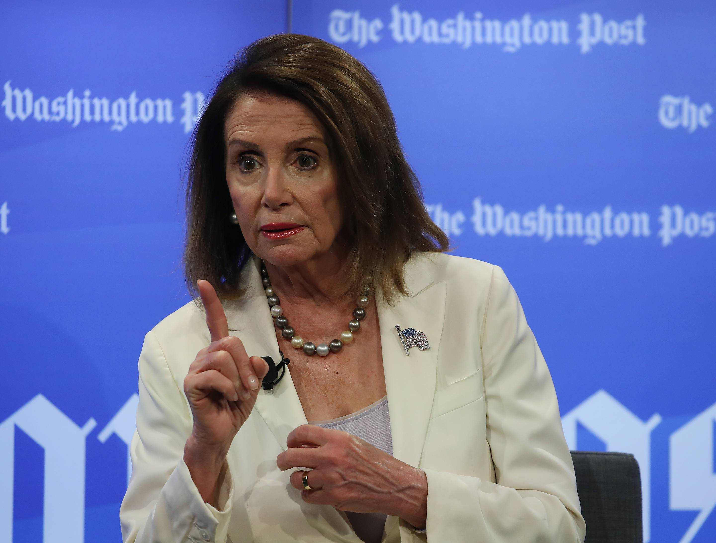 Speaker Nancy Pelosi Participates In A Moderated Conversation At Washington Post