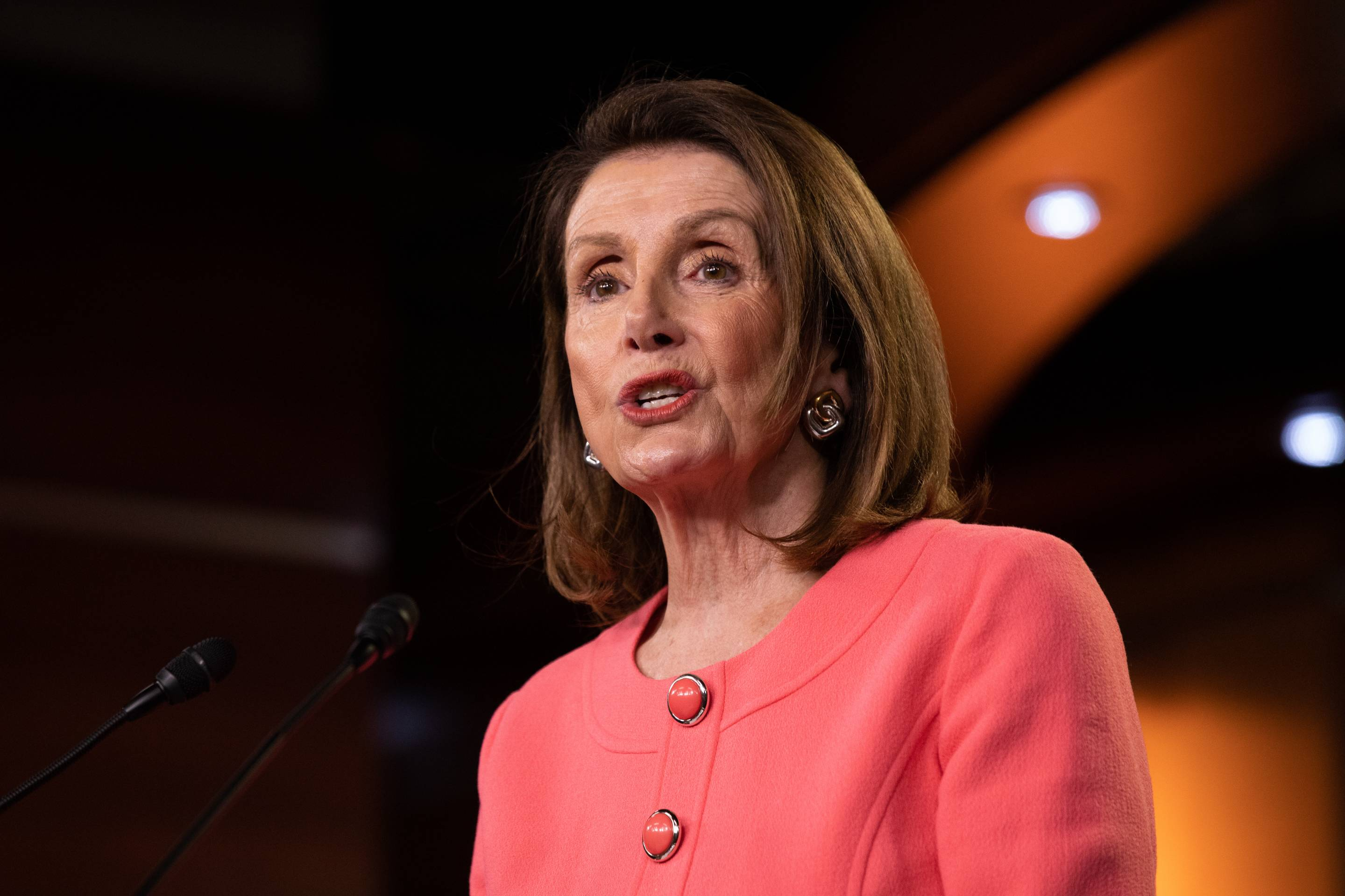 House Speaker Nancy Pelosi Holds Weekly News Conference At U.S. Capitol