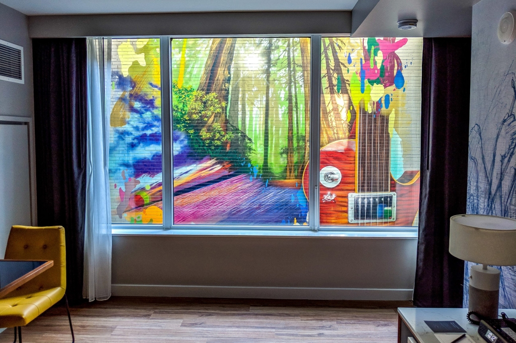 sound hotel mural