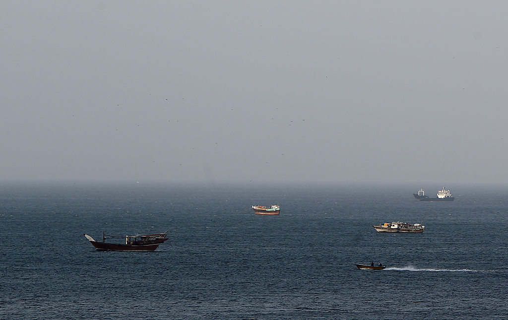 Dhows, fishing boats and cargo ships are