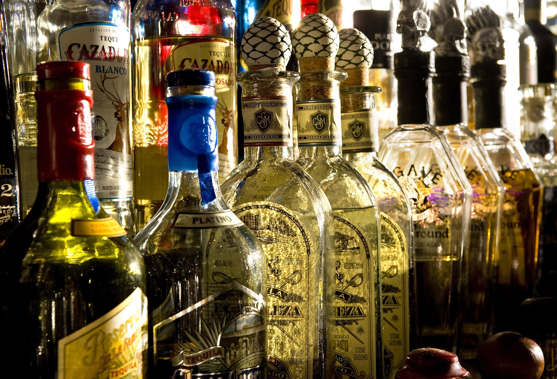 tequila bottle bar