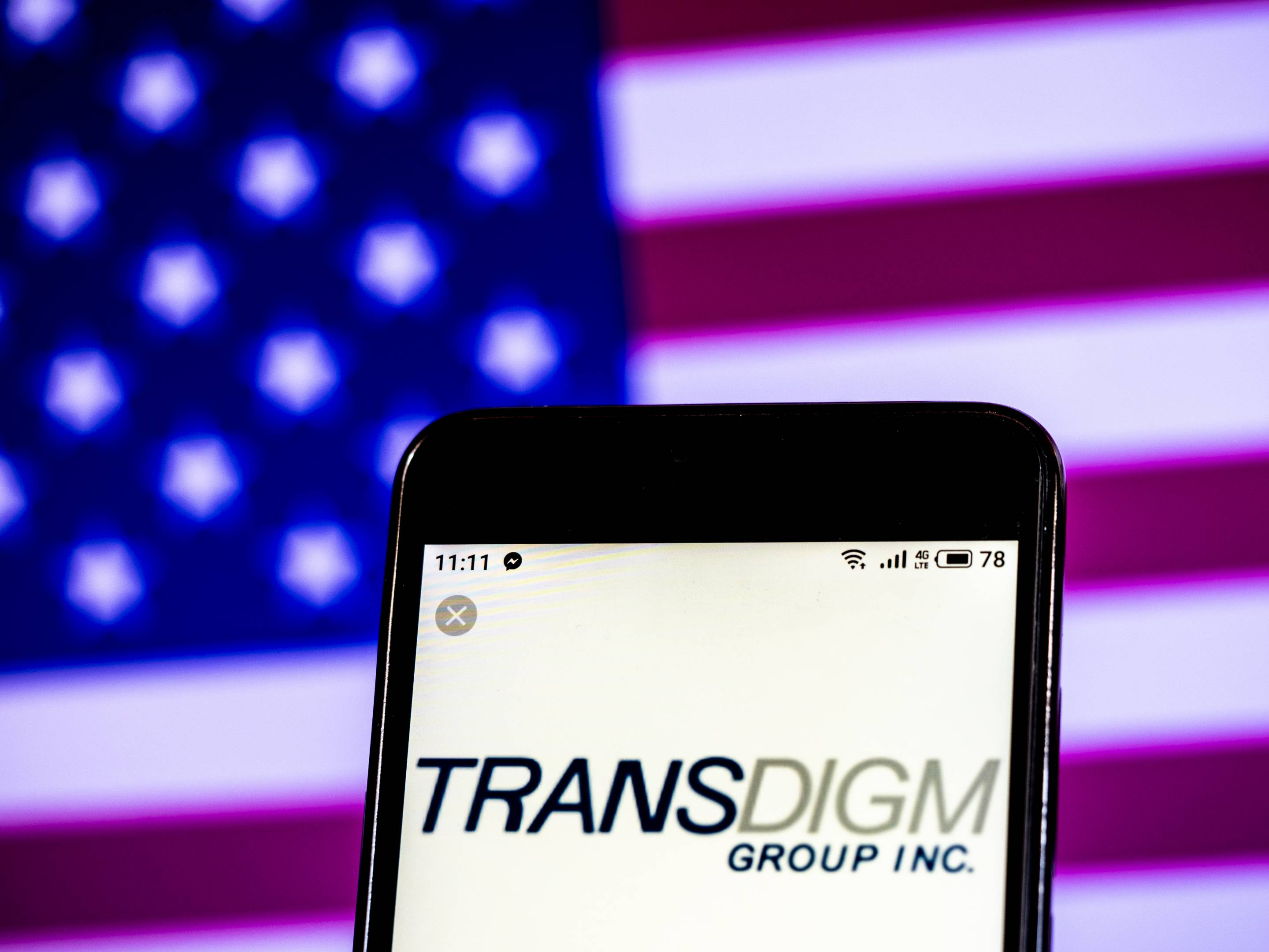 TransDigm Group Manufacturing company logo seen displayed on