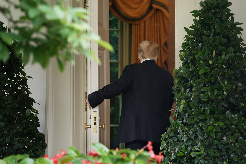 President Trump Discusses Mueller Investigation In Rose Garden Of White House