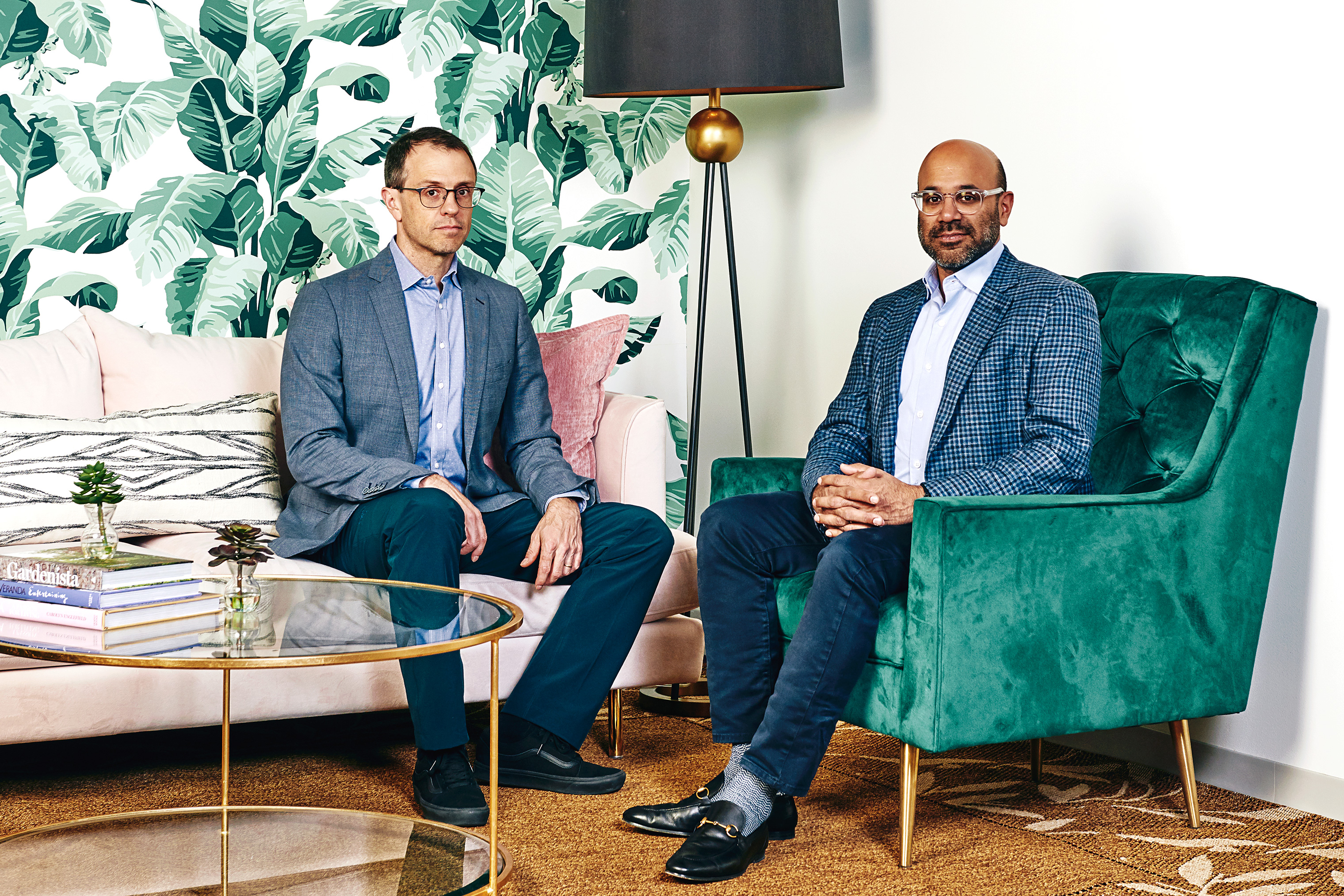Wayfair cofounders Steve Conine (left) and Niraj Shah.