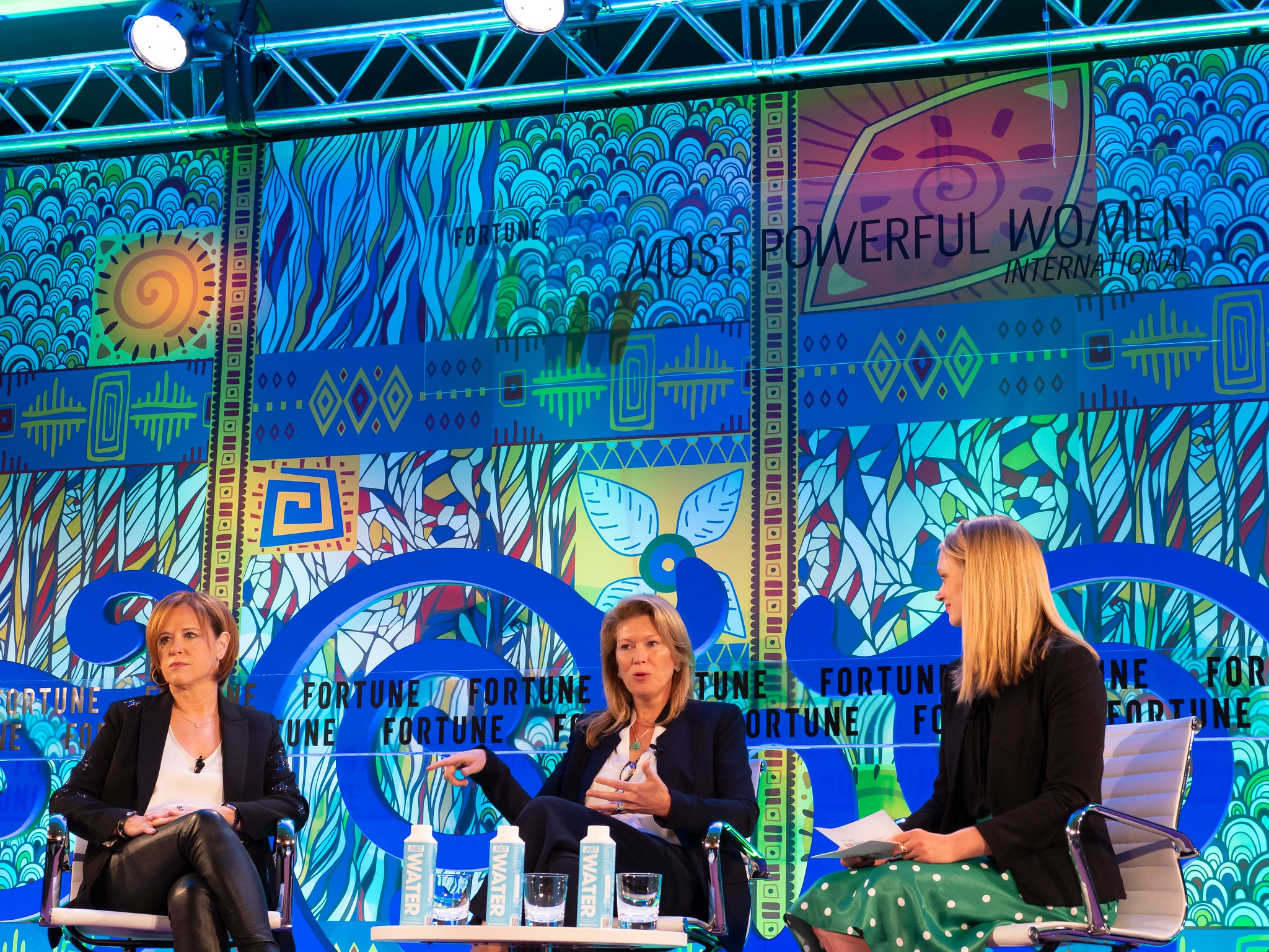 Rakefet Russak-Aminoach, President and CEO of Leumi Group, and Karen Frank, CEO of Private Bank and Overseas Services at Barclays, at Fortune Most Powerful Women International in London.