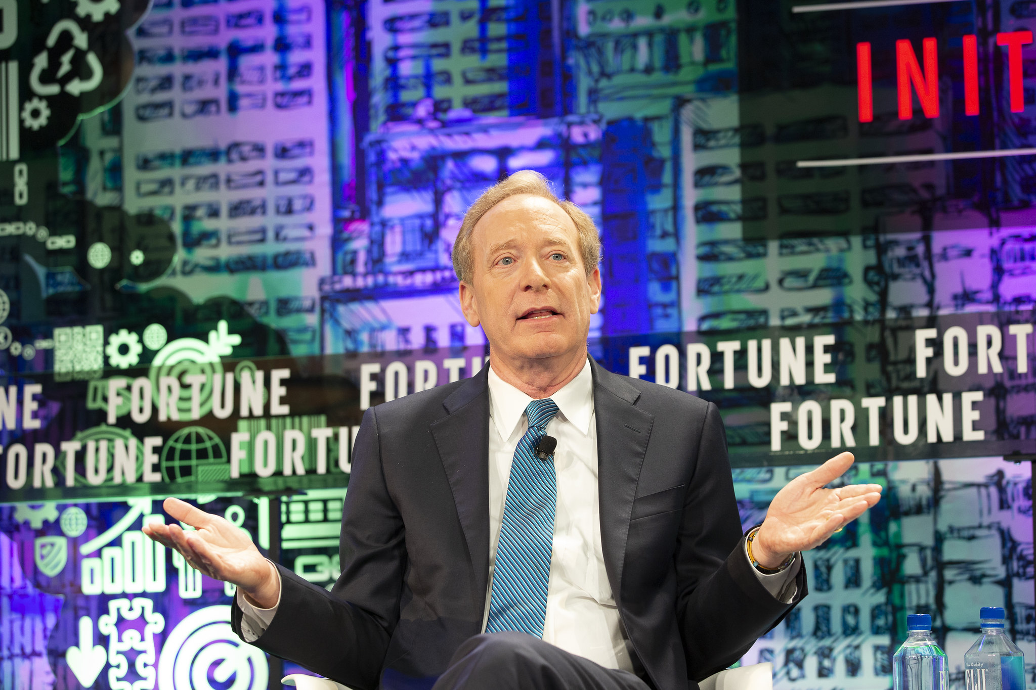 Microsoft president Brad Smith speaking at the 2019 Fortune CEO Initiative in New York City.