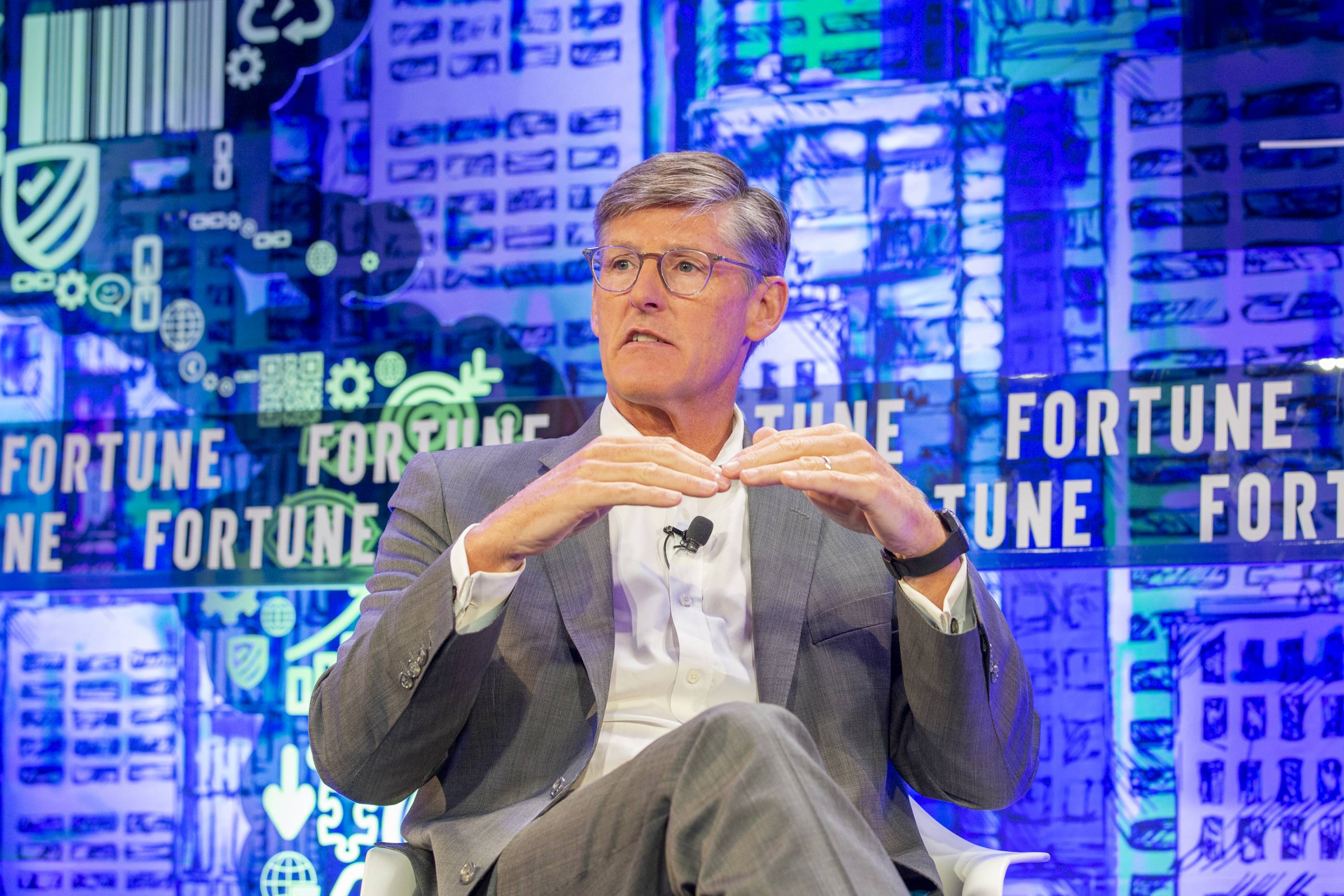Citigroup CEO Michael Corbat on stage at the Fortune CEO Initiative.