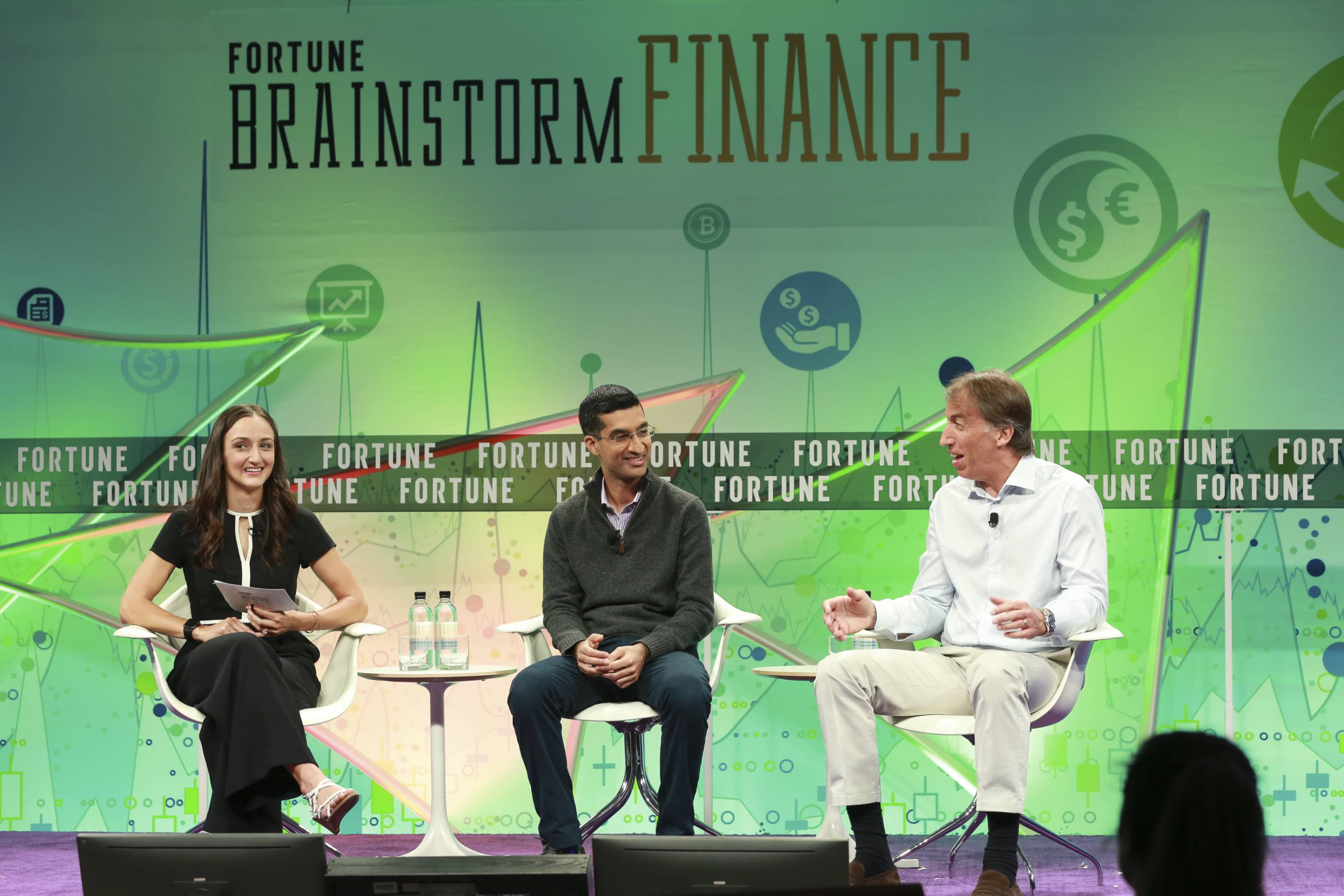 Venmo's Amit Jhawar Wealthfront's Andy Rachleff at Fortune's Brainstorm Finance conference