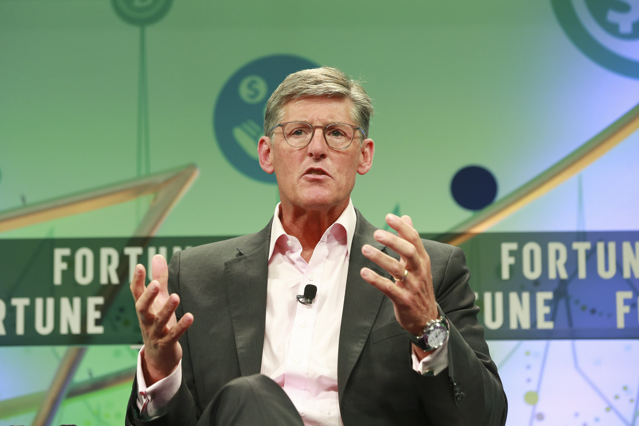 Citigroup CEO Michael Corbat speaking at the 2019 Fortune Brainstorm Finance conference in Montauk, N.Y.