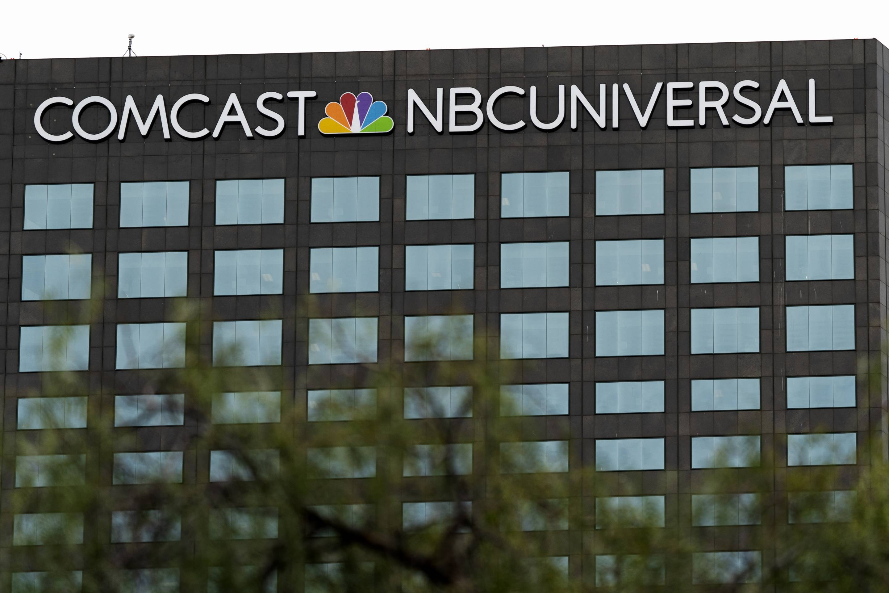 A view of the Comcast NBCUniversal building in Universal