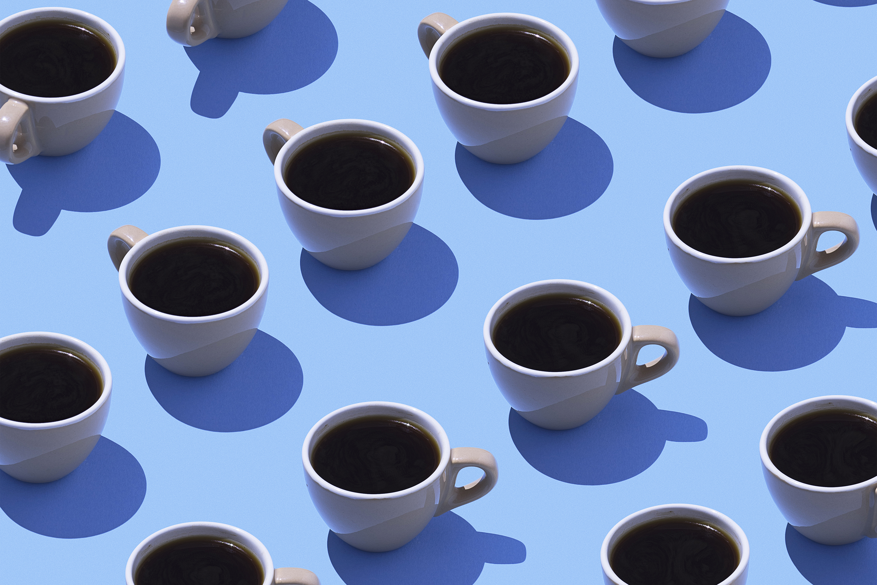cups of coffee pattern