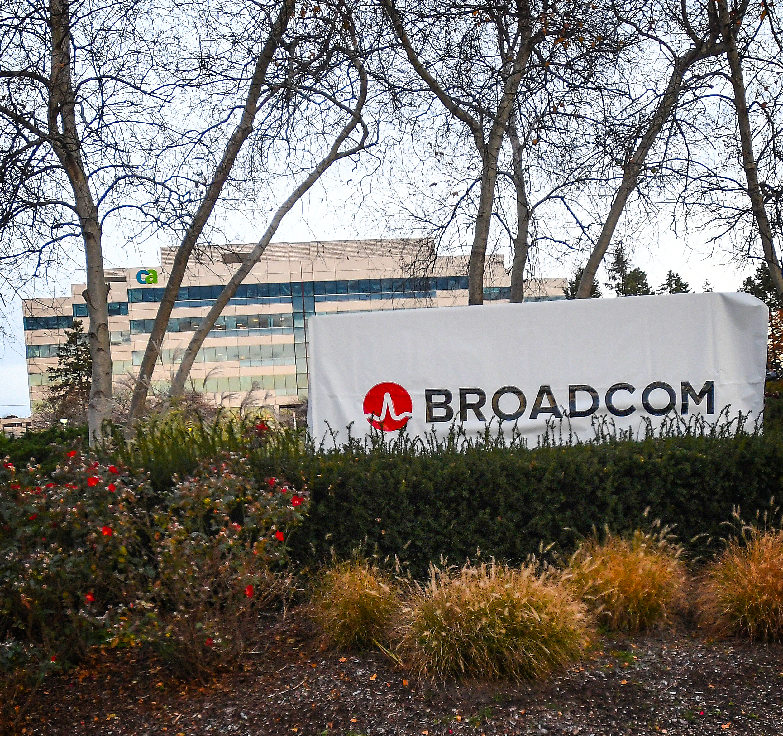 Broadcom signage outside former Computer Associates building
