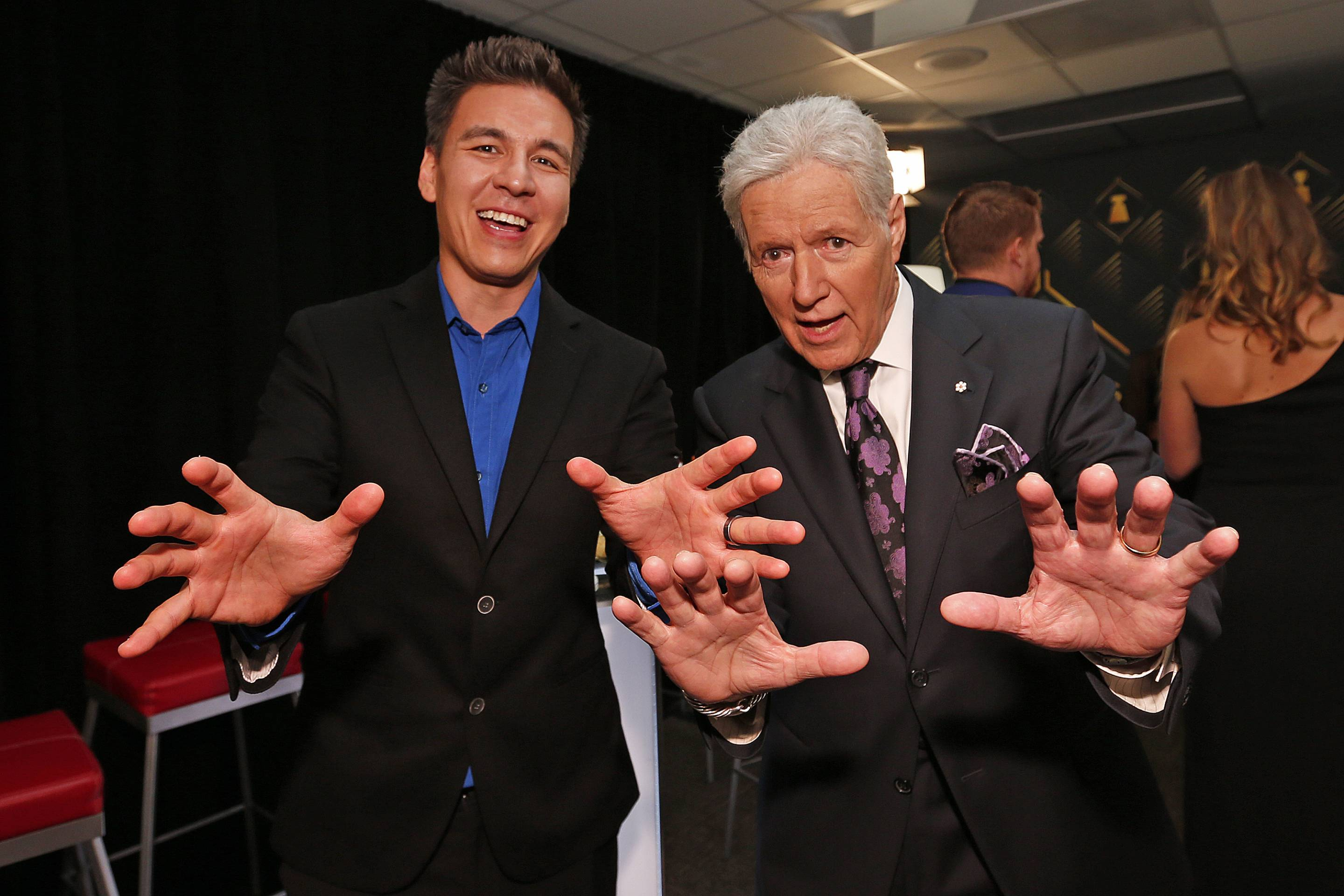 Alex Trebek and James Holzhauer