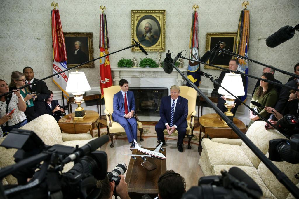 WASHINGTON, DC - JUNE 20: President Donald Trump speaks as he w