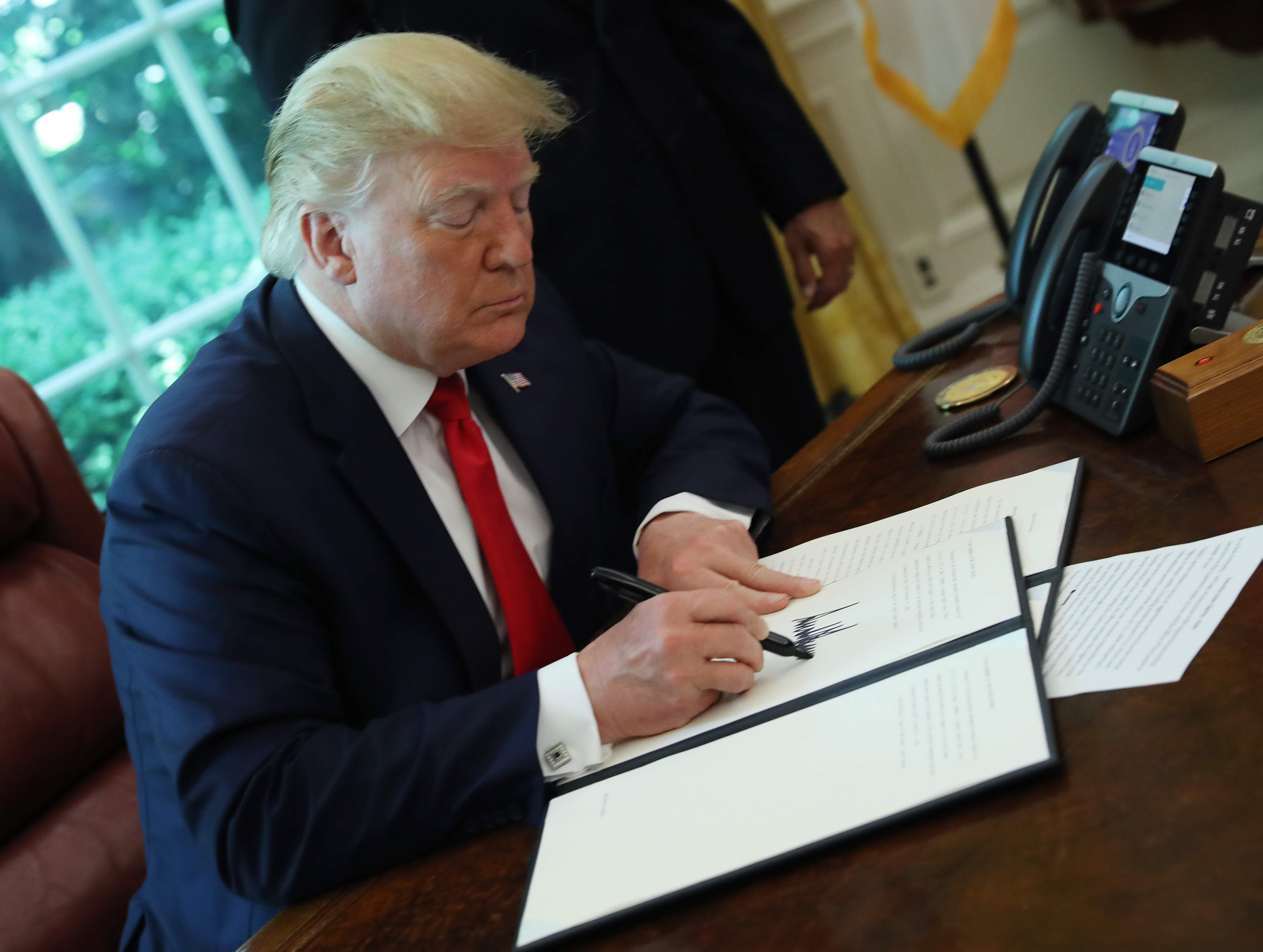 President Trump Signs Executive Order For New Sanctions On Iran