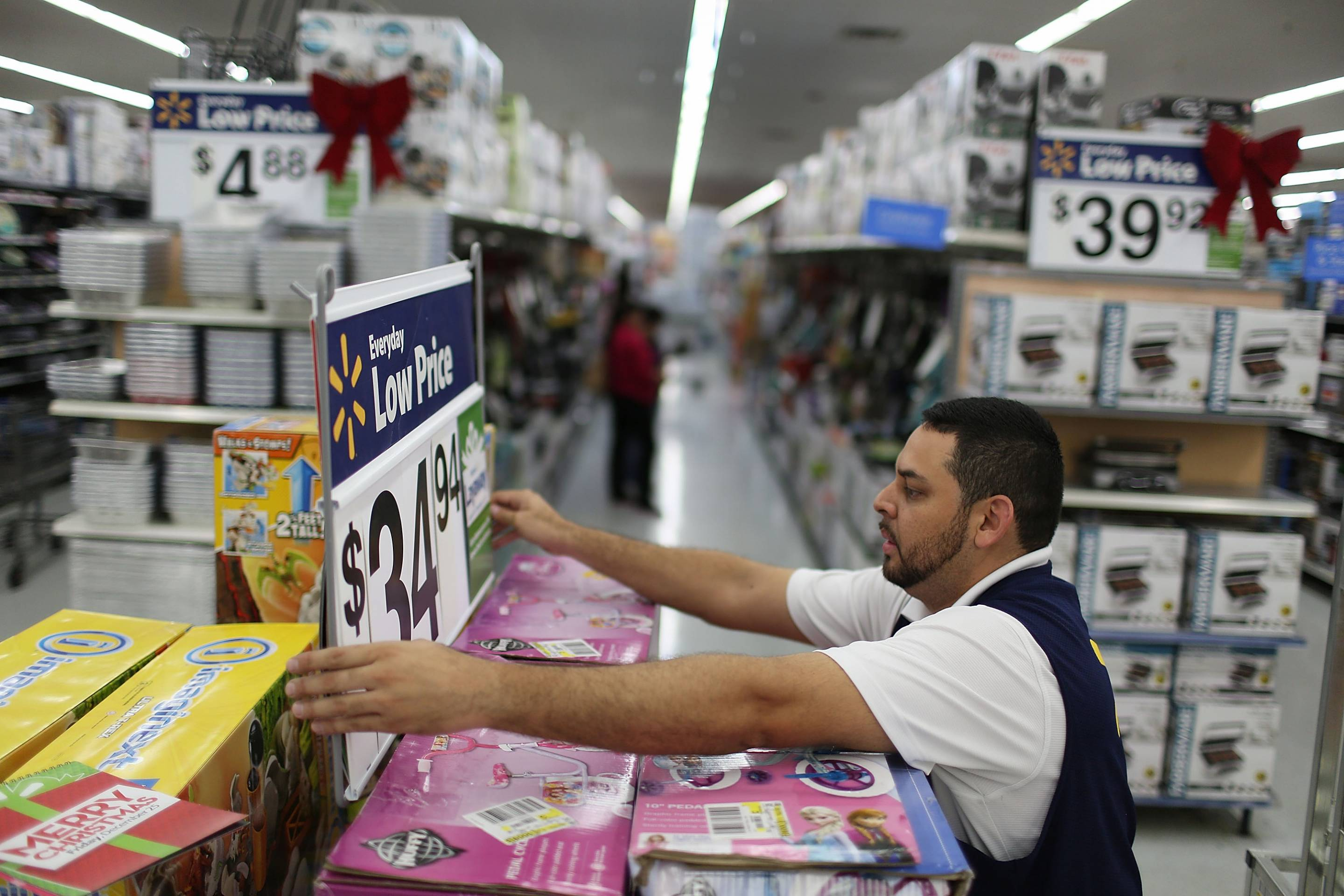 Wal-Mart Prepares For Black Friday Shopping Rush