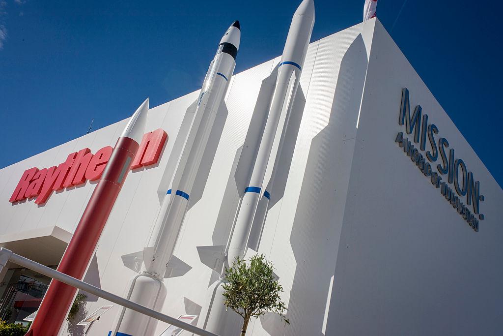 UK - Farnborough - Raytheon corporate exhibition stand