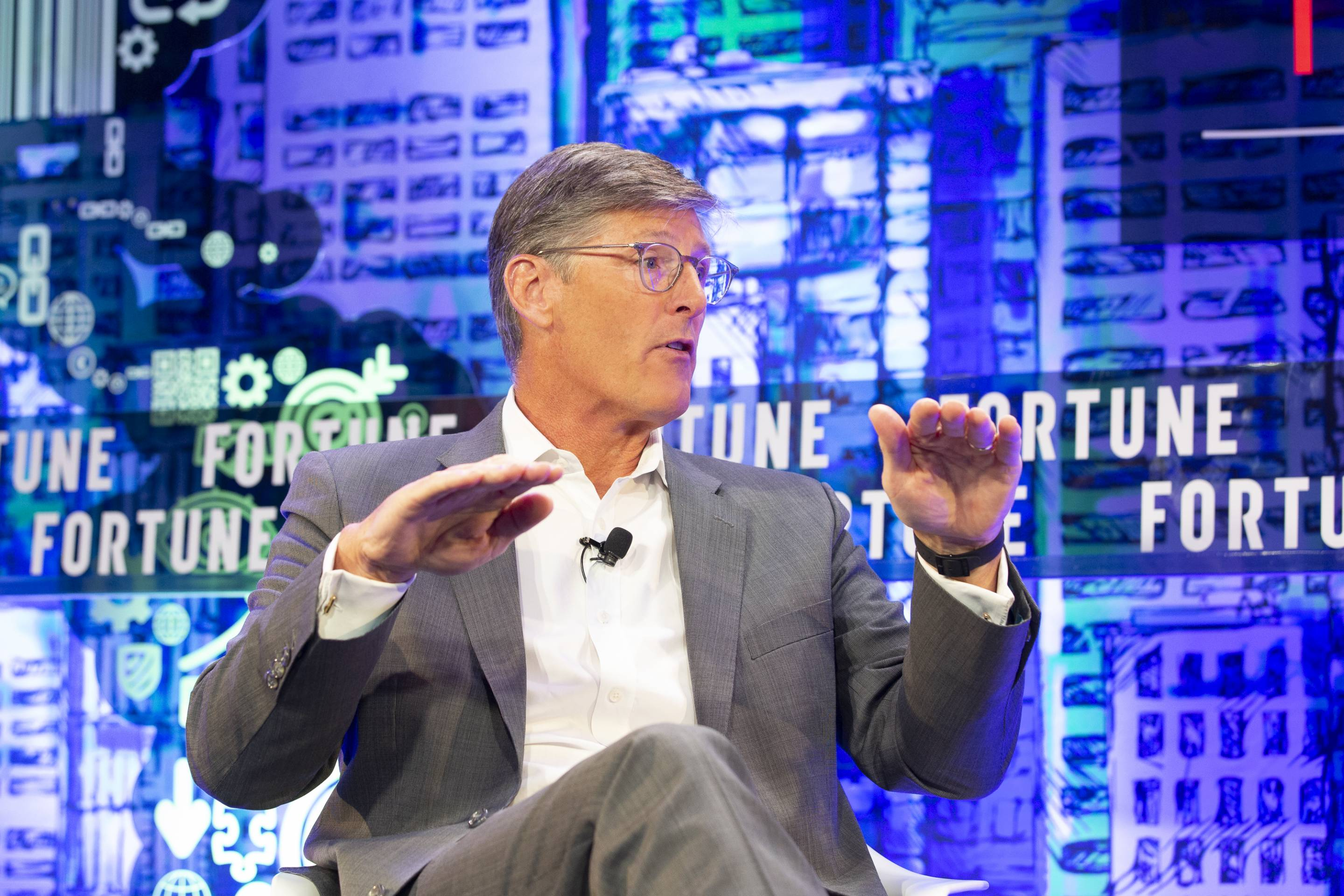 Citigroup CEO Michael Corbat speaks at the Fortune CEO Initiative on June 11, 2019.