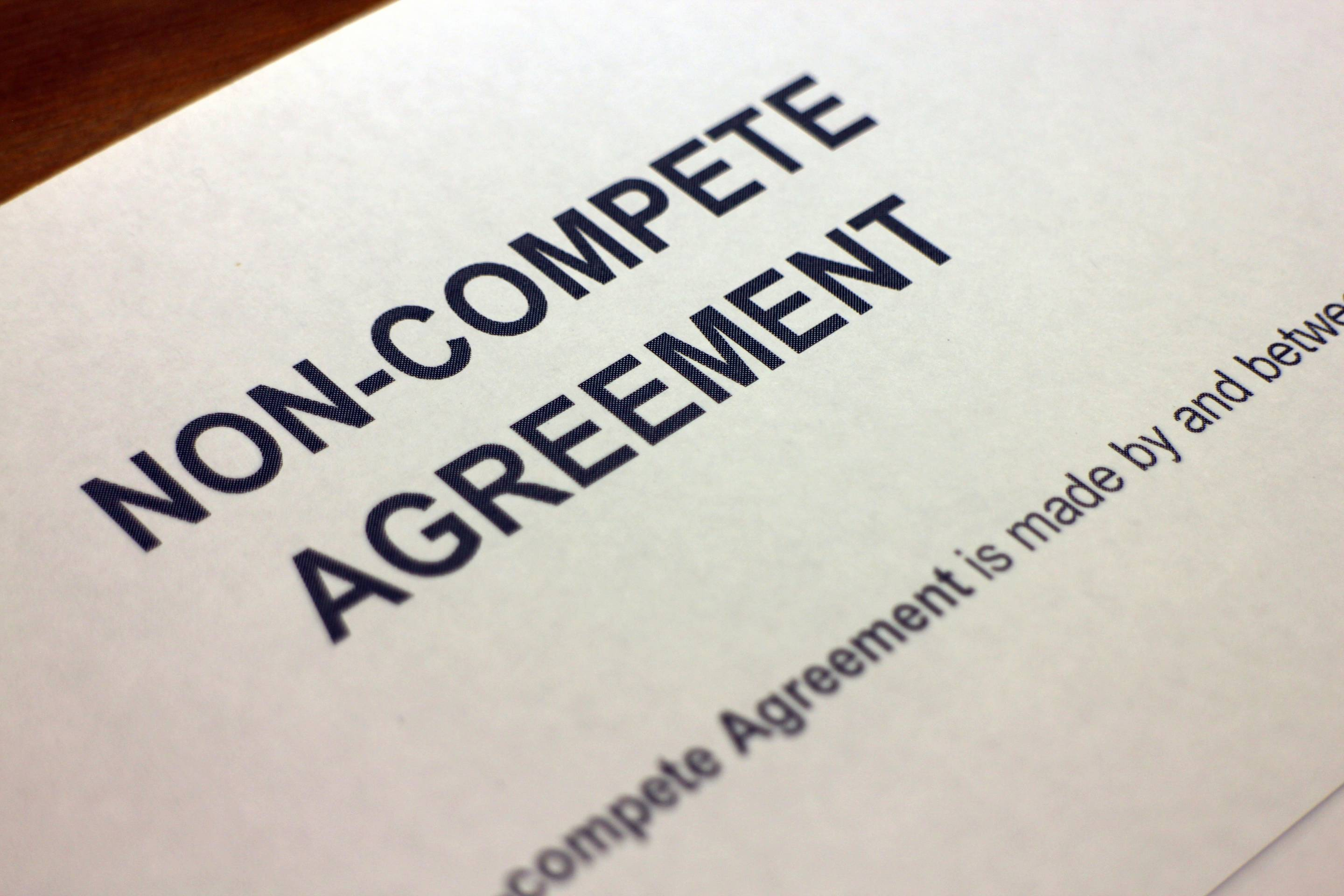 A noncompete agreement.