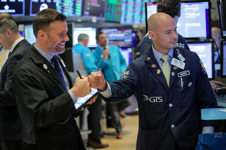 NYSE Fist Bump