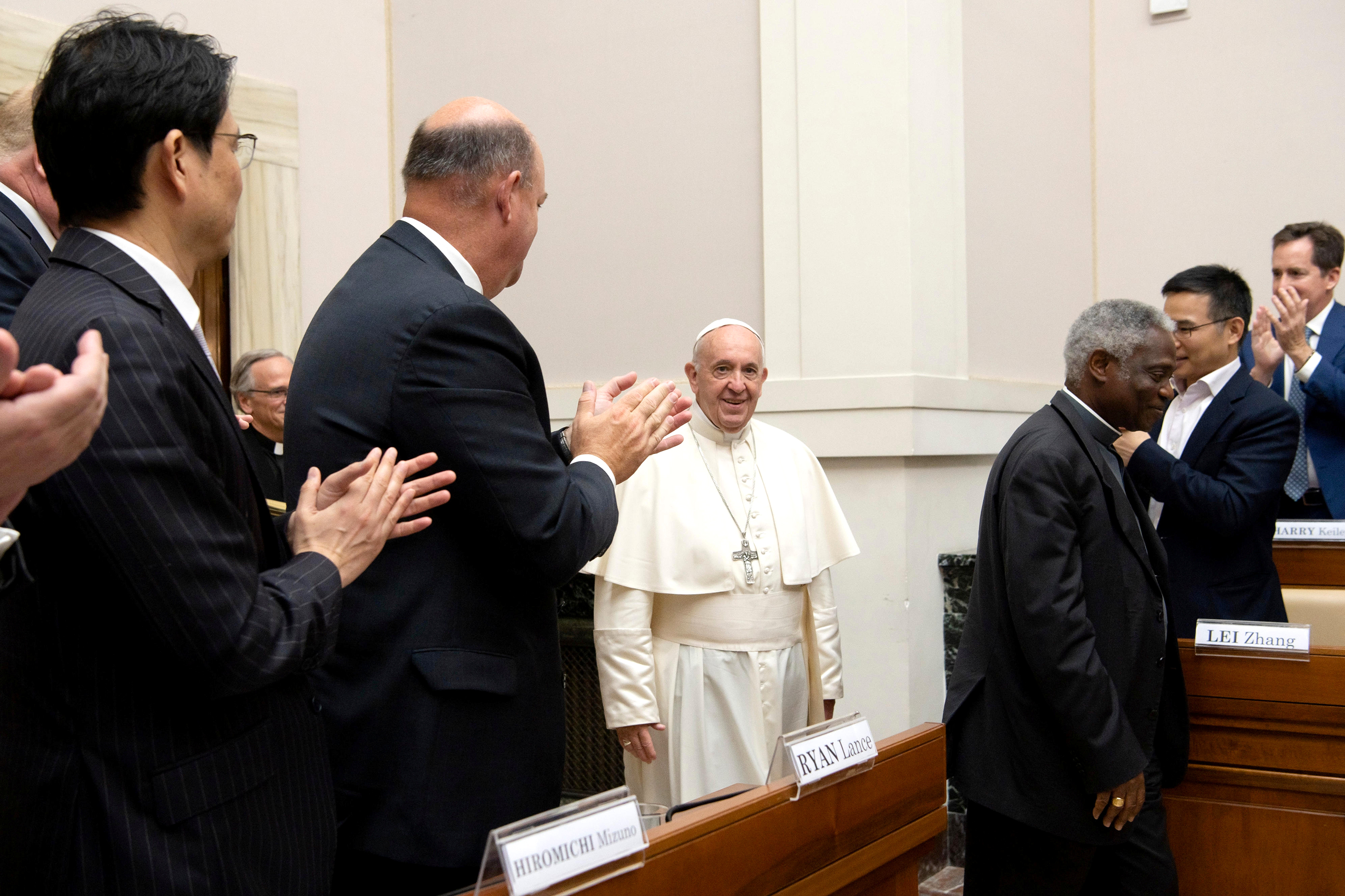 Pope Francis Climate Change Energy Representatives